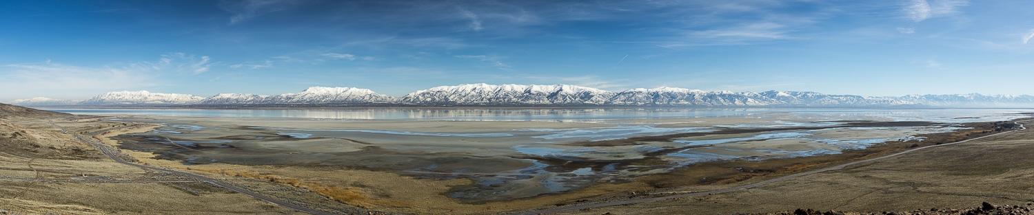 The Wasatch Range from Antelope Island