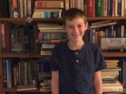 The eighth-grader said he wants children to be able to pick up the book, whether they are happy or sad, and be reaffirmed that they are going to be OK.