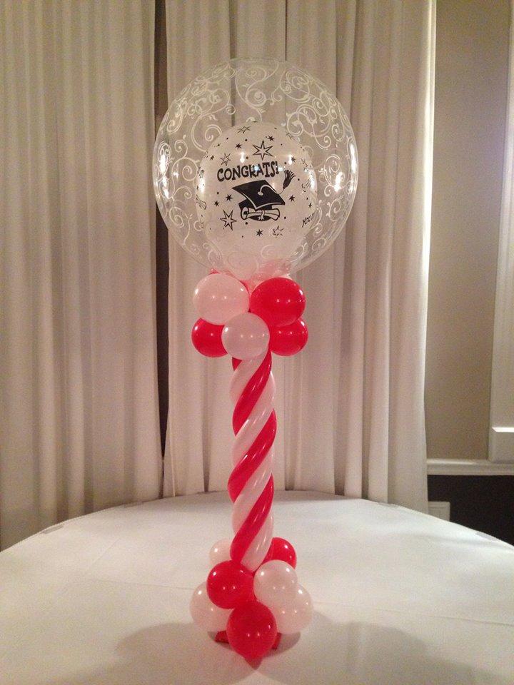 Double Stuffed Deco Balloon on a Pedestal