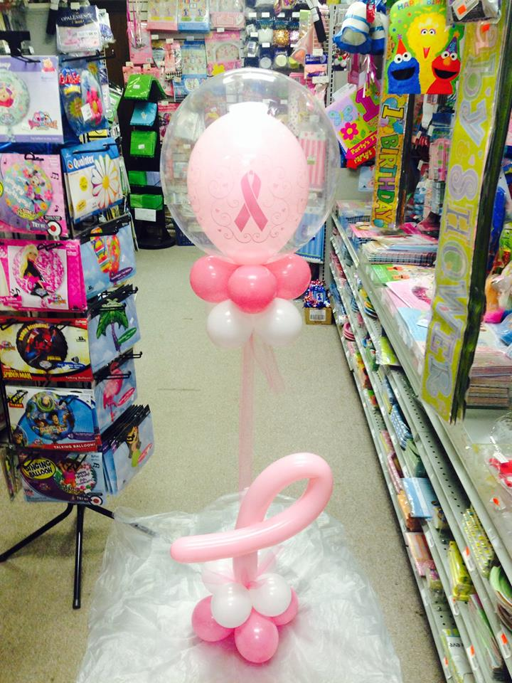 Breast Cancer Awareness Deco Bubble with base balloons