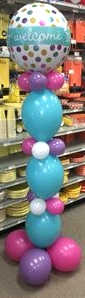 Welcome Baby Balloon Tower