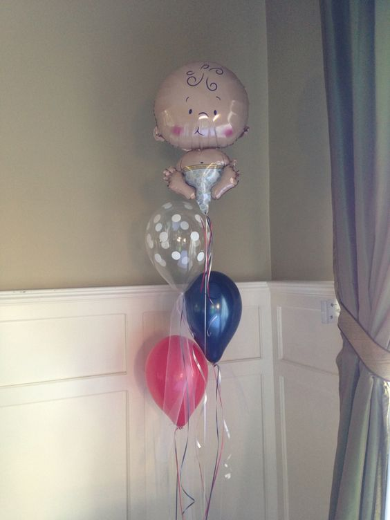 Baby Balloon with Tulle