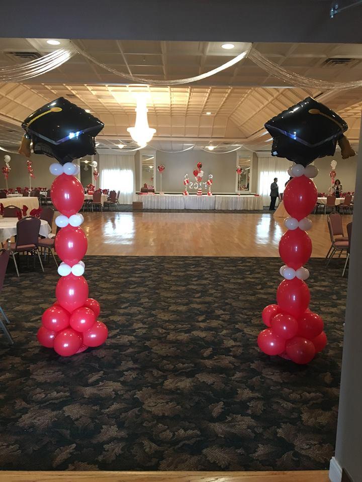 Red & White Grad Entrance