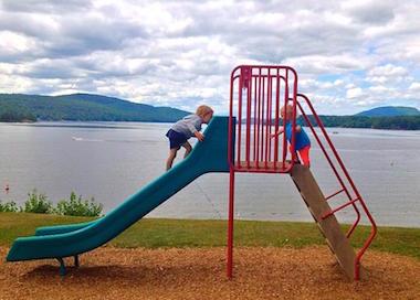 Kiddos at schroon lake, NY