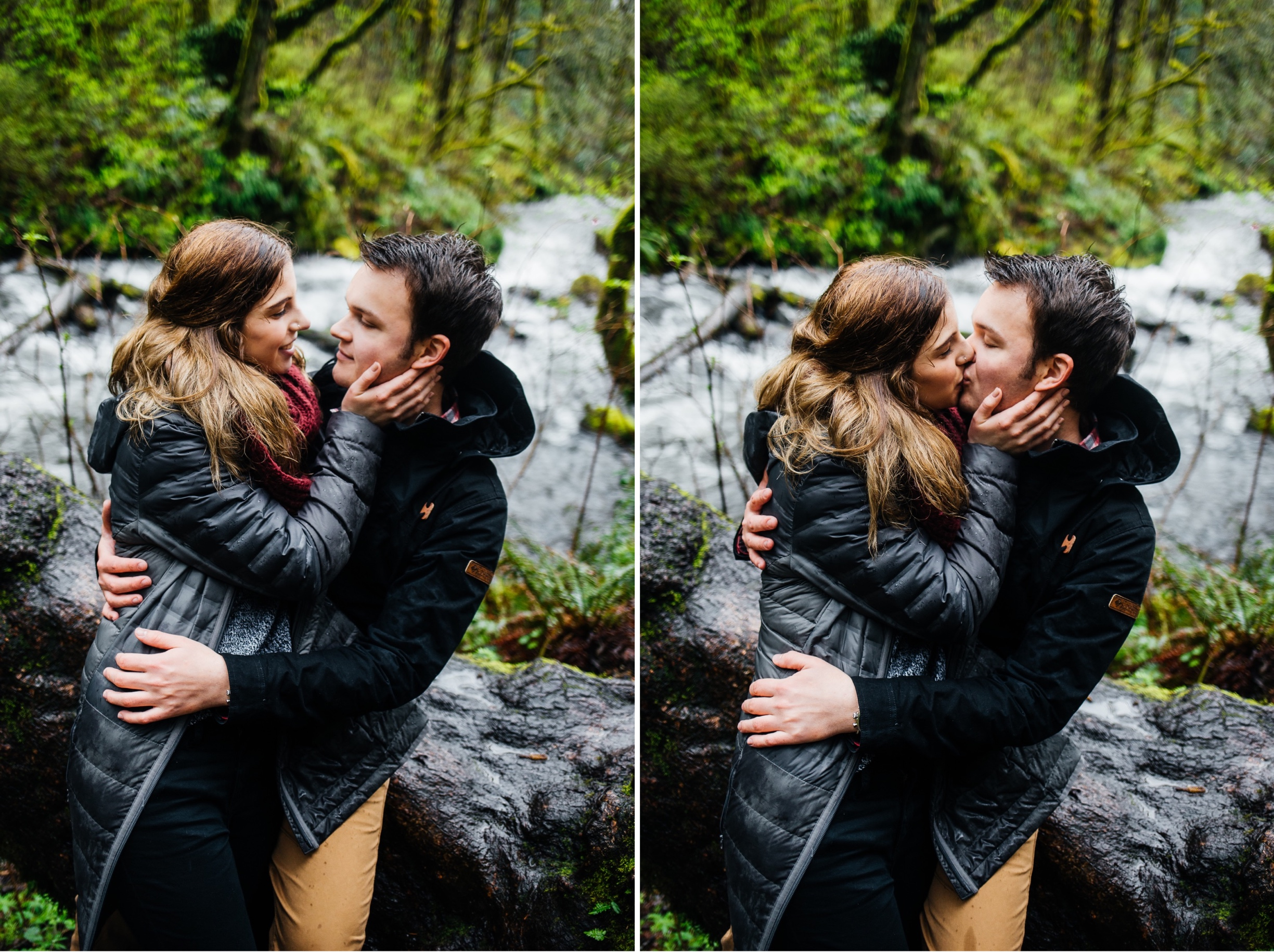 Waterfall Engagement Photos at the Columbia River Gorge Portland, Engaged, Engagement, She Said Yes, He Put a Ring on It, How He Asked, Bridal Veil Falls Oregon, Bridal Veil Falls Engagement Photos, Columbia River Gorge Engagement Photos, Portland Waterfall, Portland Oregon Engagement Photos, Oregon Engagement Photographer, Portland Engagement Photographer, Portland Engagement Photography, Where to Take Engagement Photos in Portland, What to Wear for Engagement Photos, Destination Photographer