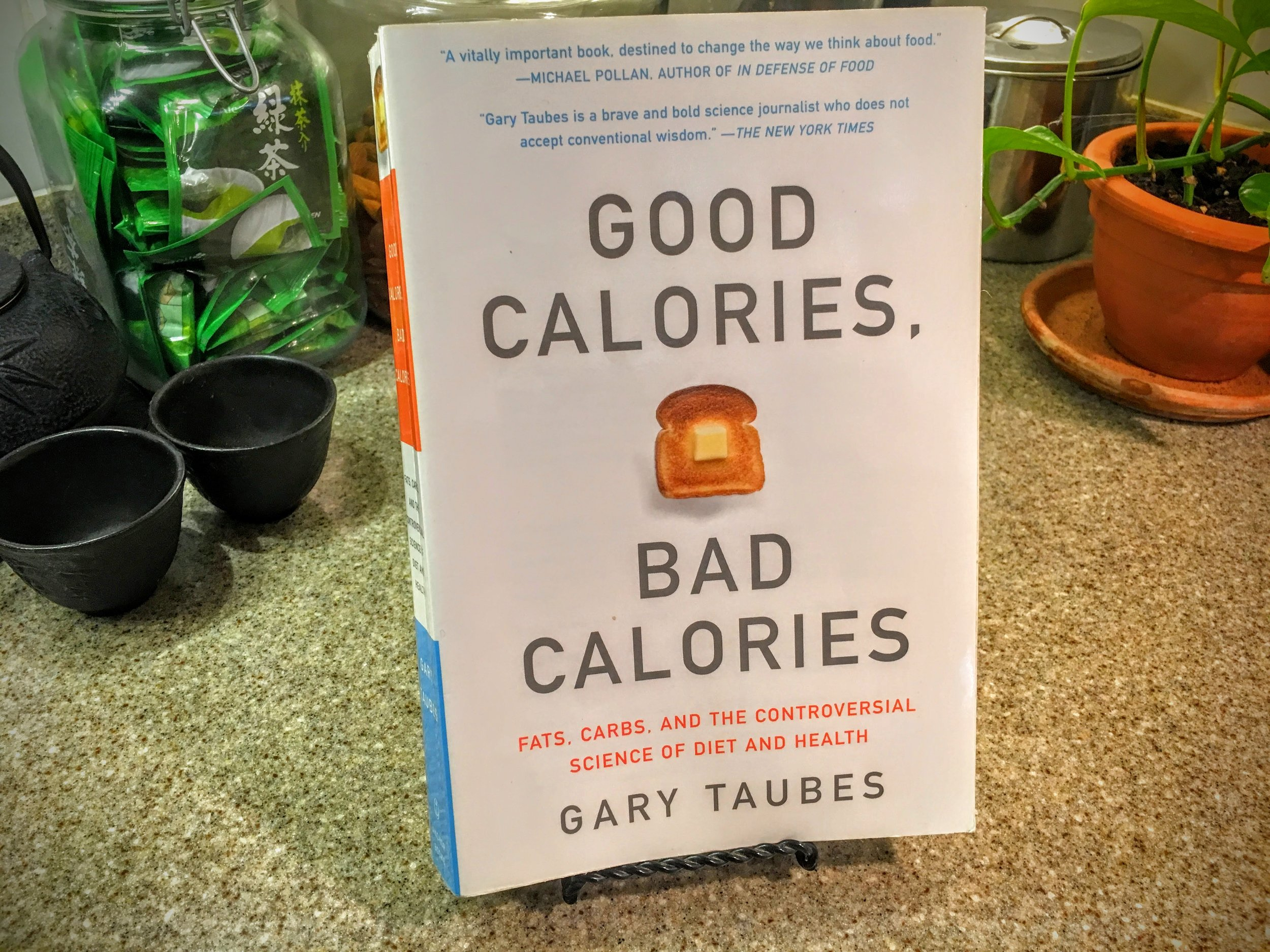 Good Calories, Bad Calories    IT TOOK ME ALL OF 9 MONTHS TO GET THROUGH THIS VERY DENSE BOOK. WORTH EVERY PAGE. IT EXPLAINS HOW ROTTEN SCIENCE AND POLITICS LED TO THE LAST 60 YEARS OF BAD NUTRITIONAL ADVICE AND, SUBSEQUENTLY, A GENERATION PLAGUED BY OBESITY AND TYPE 2 DIABETES. HUNKER DOWN AND PREPARE TO SPEND SOME TIME WITH THIS BOOK. AGAIN, IT'S WORTH IT.