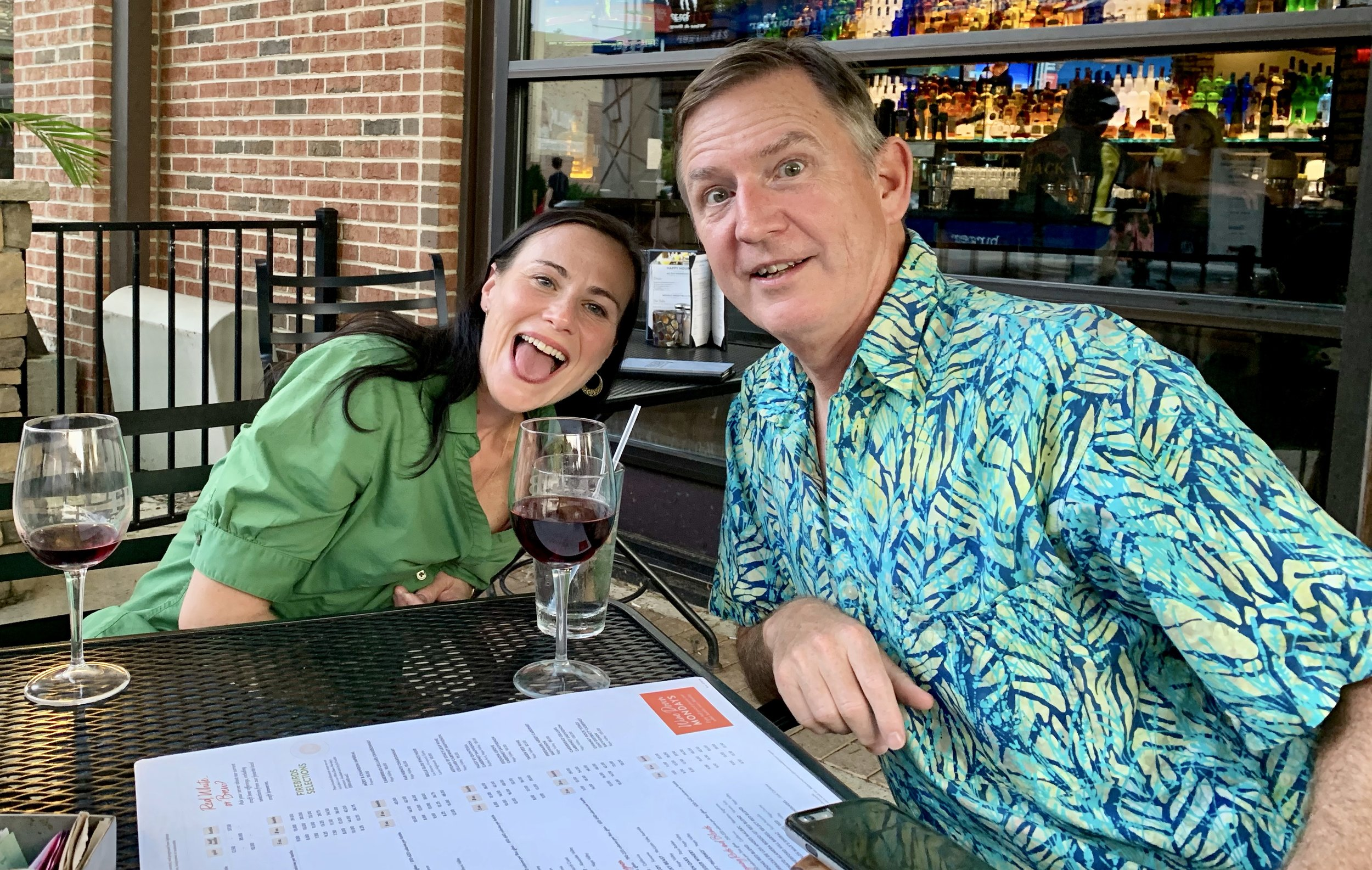 Amy berger and dr. eric westman as we enjoyed some adult beverages and conversation recently.