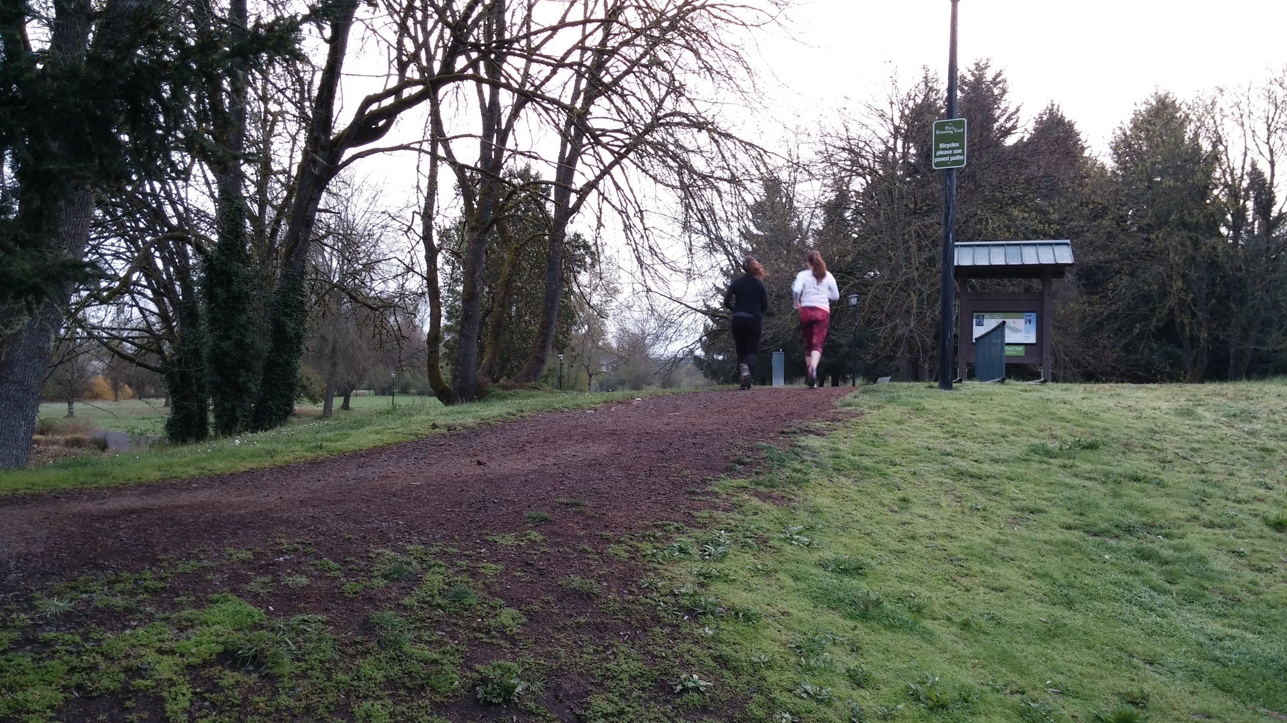 That's Miriam on the right during a training run.