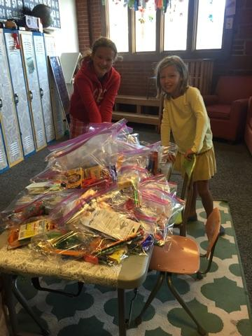 74 school kits for Bags of Love