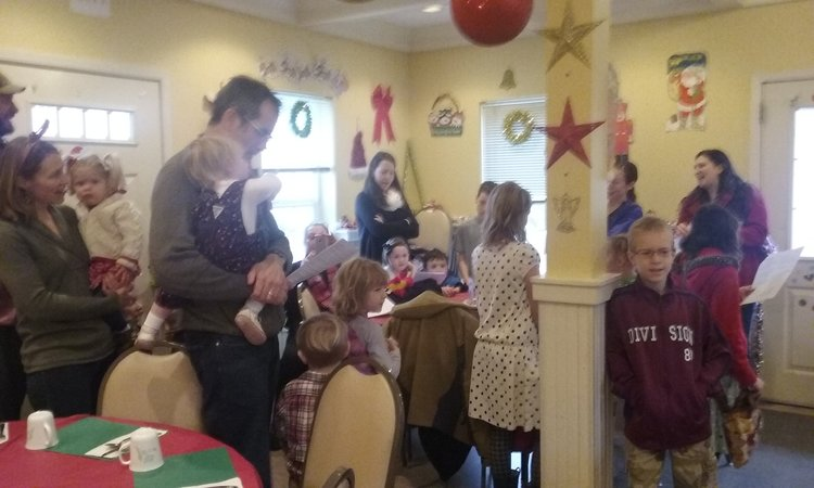Caroling a couple years ago at Cafe 60 Meals on Wheels