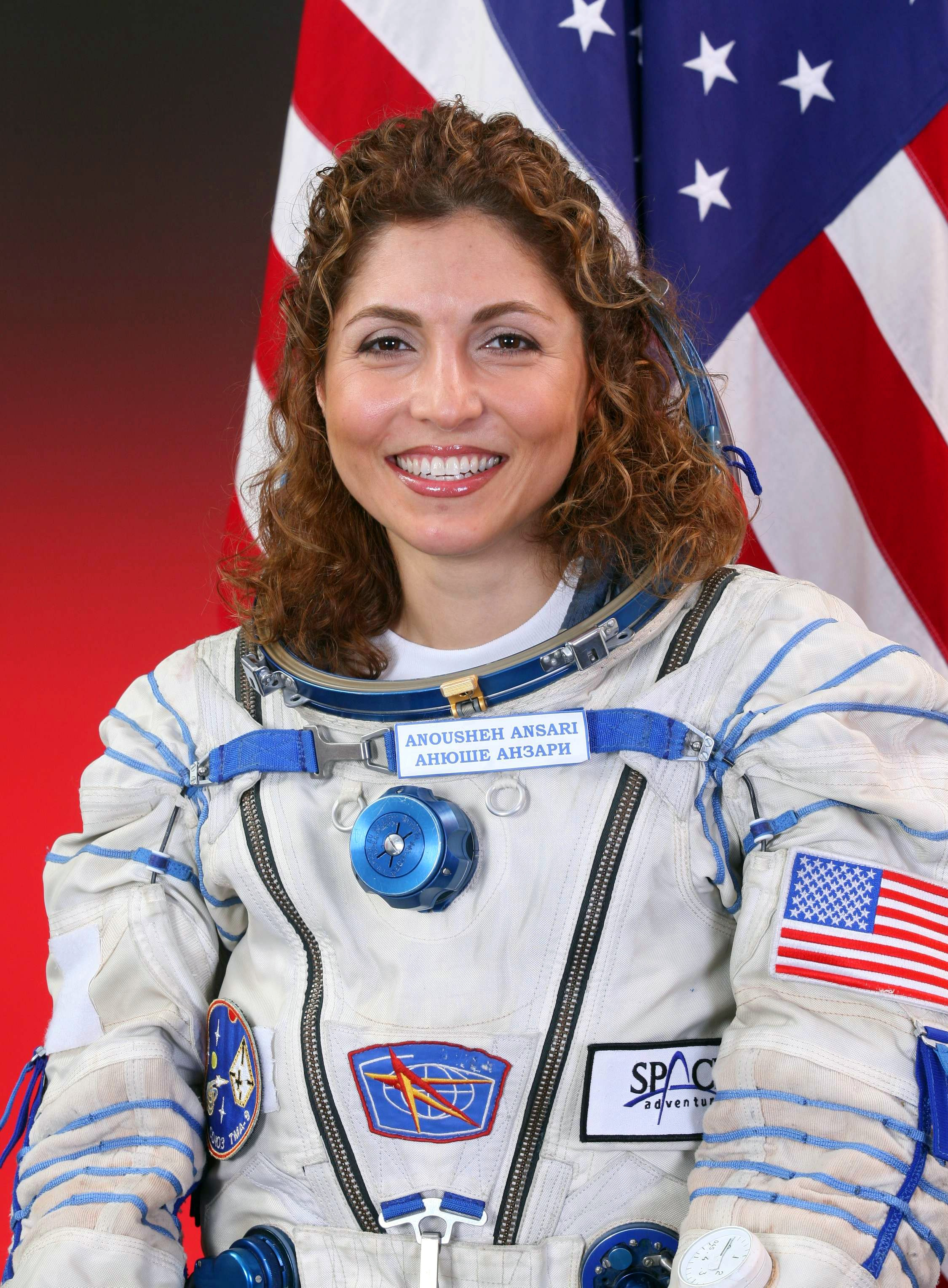 Anousheh Ansari, first Iranian woman in space, fourth overall self-funded space traveler, and the first self-funded woman to fly to the International Space Station.