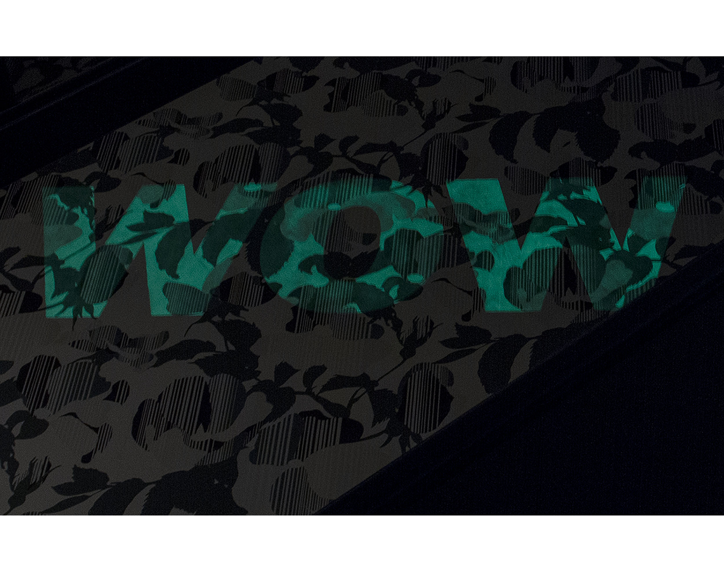 Glow in the dark element on Coded Rose Wallpaper