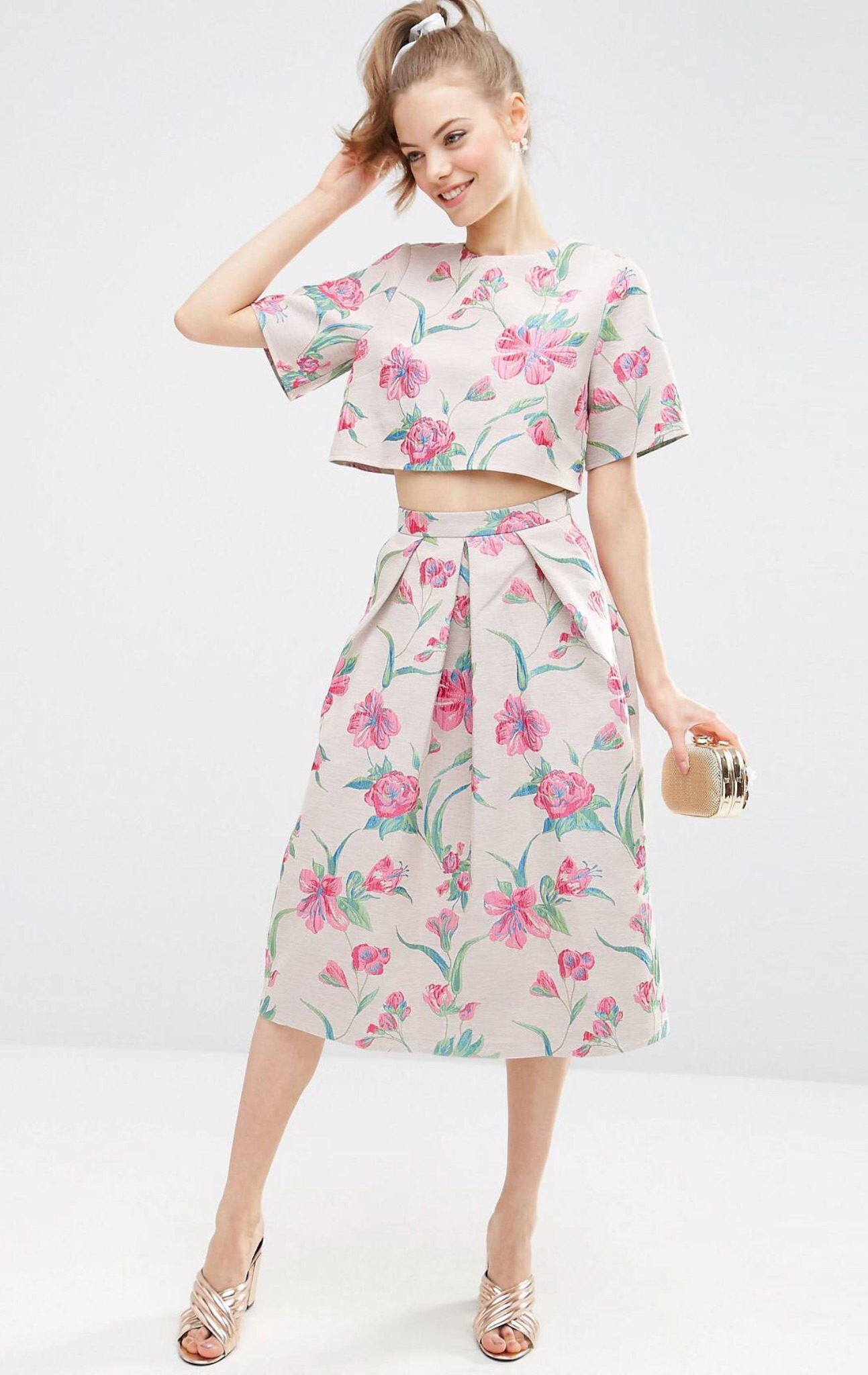 Continue Kjole Blossom Flower Chiffon Dress Small Flower