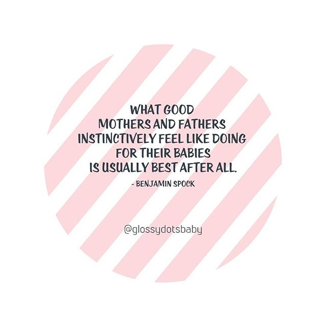 Yes!! So many times while pregnant, and in the first year caring for my baby I was given TONS of advice- whether I wanted it or not. Some of the most important #inthemoment decisions I had to make I listened to my gut to get us through it. 💖 #baby