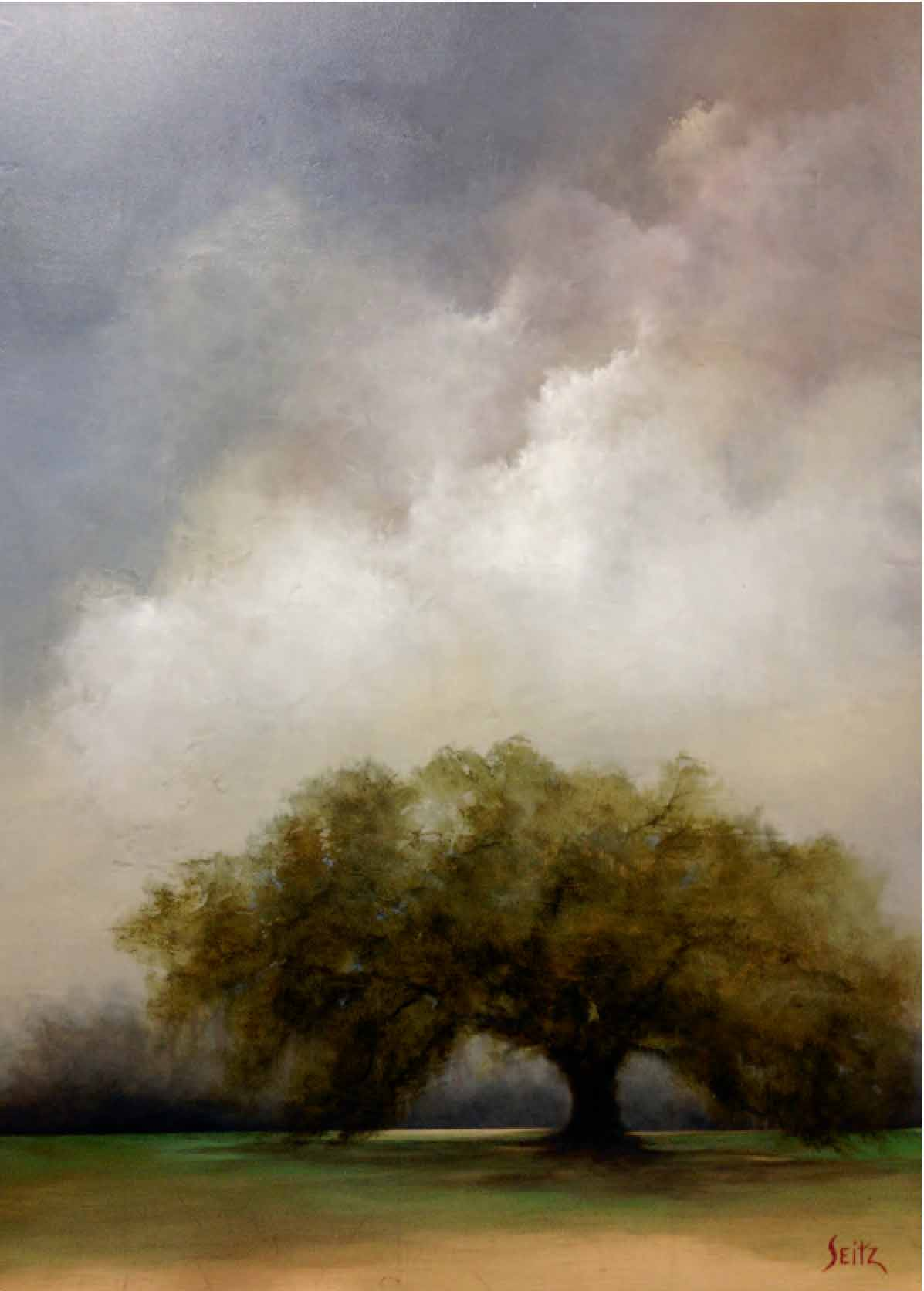 """""""Weathering the Storms of Life"""" by Jim Seitz is the featured artwork this year at Deo Gratias."""