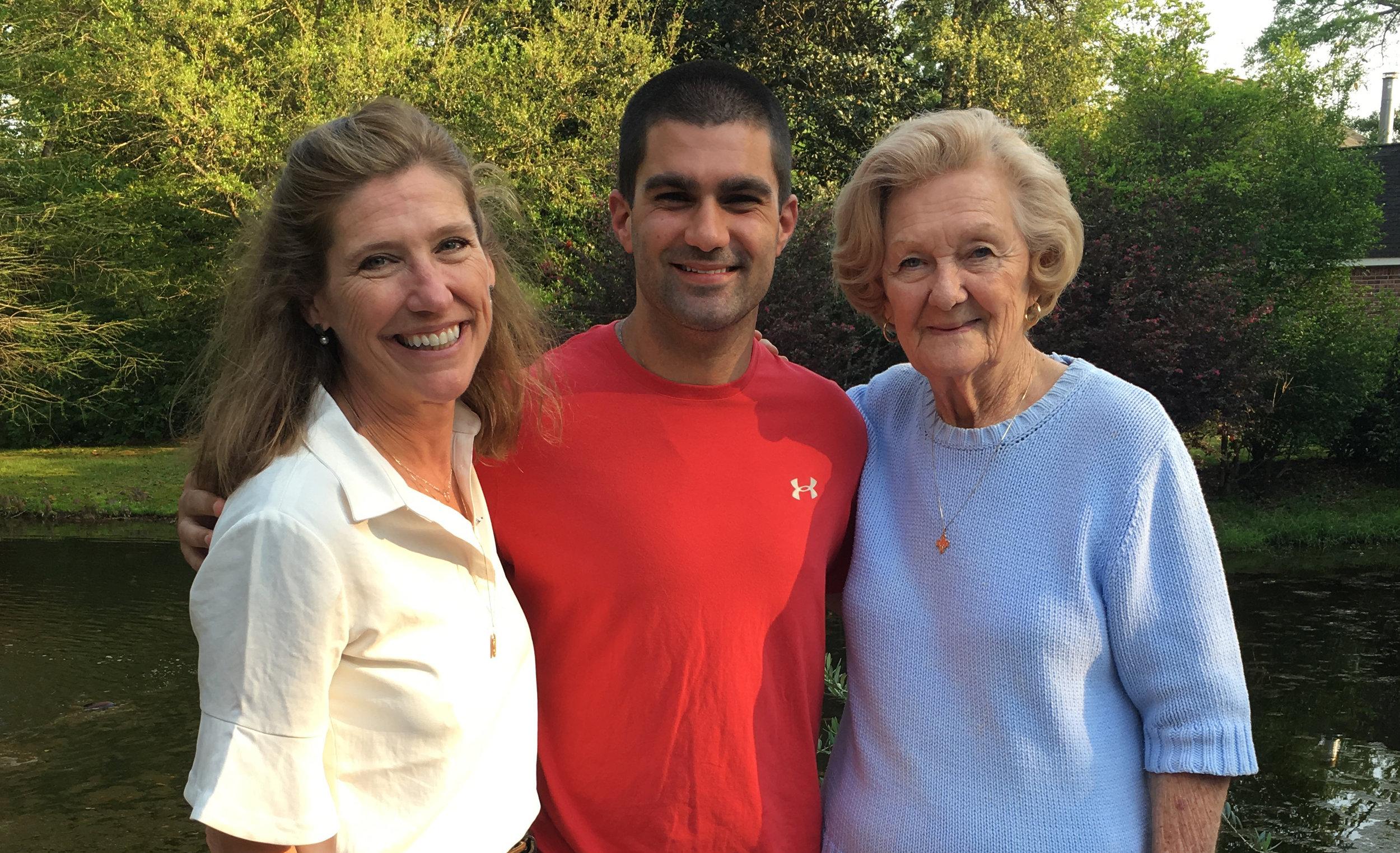 L to R: Priscilla Morse, Nick Ware and Kay Morse