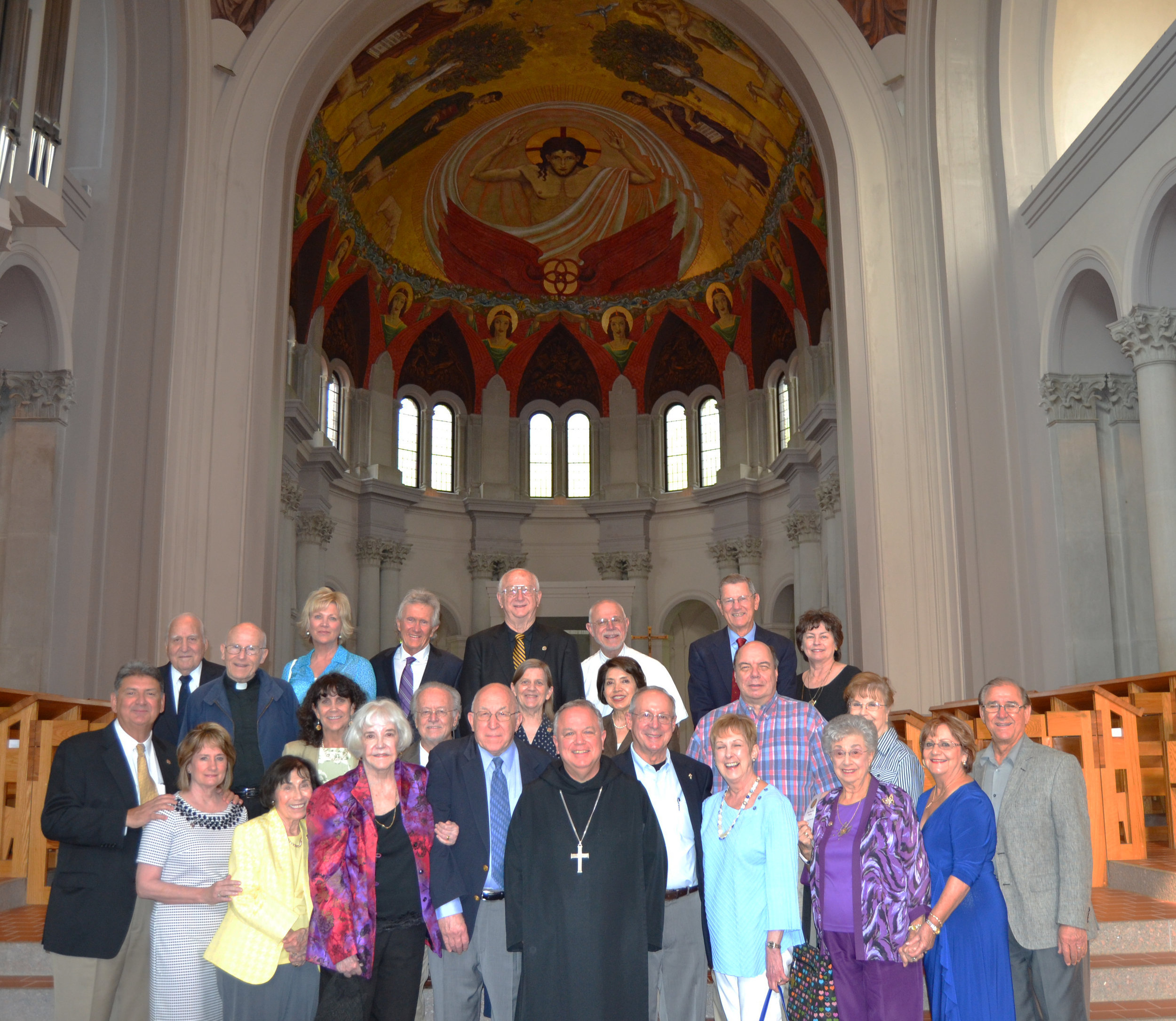2015 ST. BENEDICT SOCIETY CELEBRATION Several new members were inducted in July of 2015.