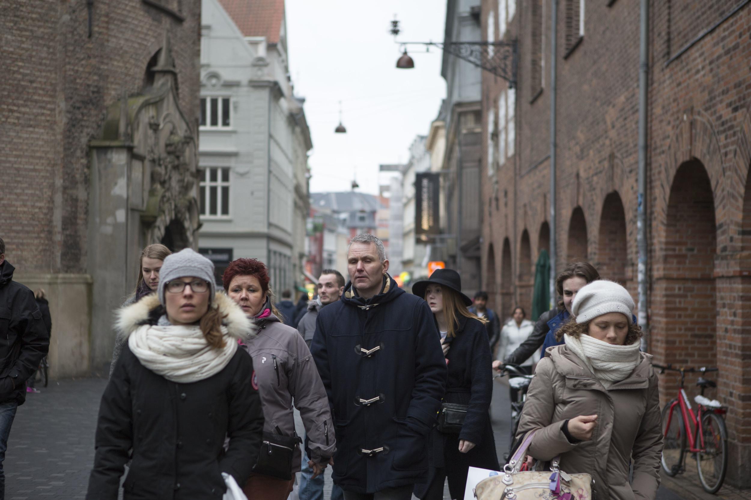 Strøget, the main shopping street in Copenhagen