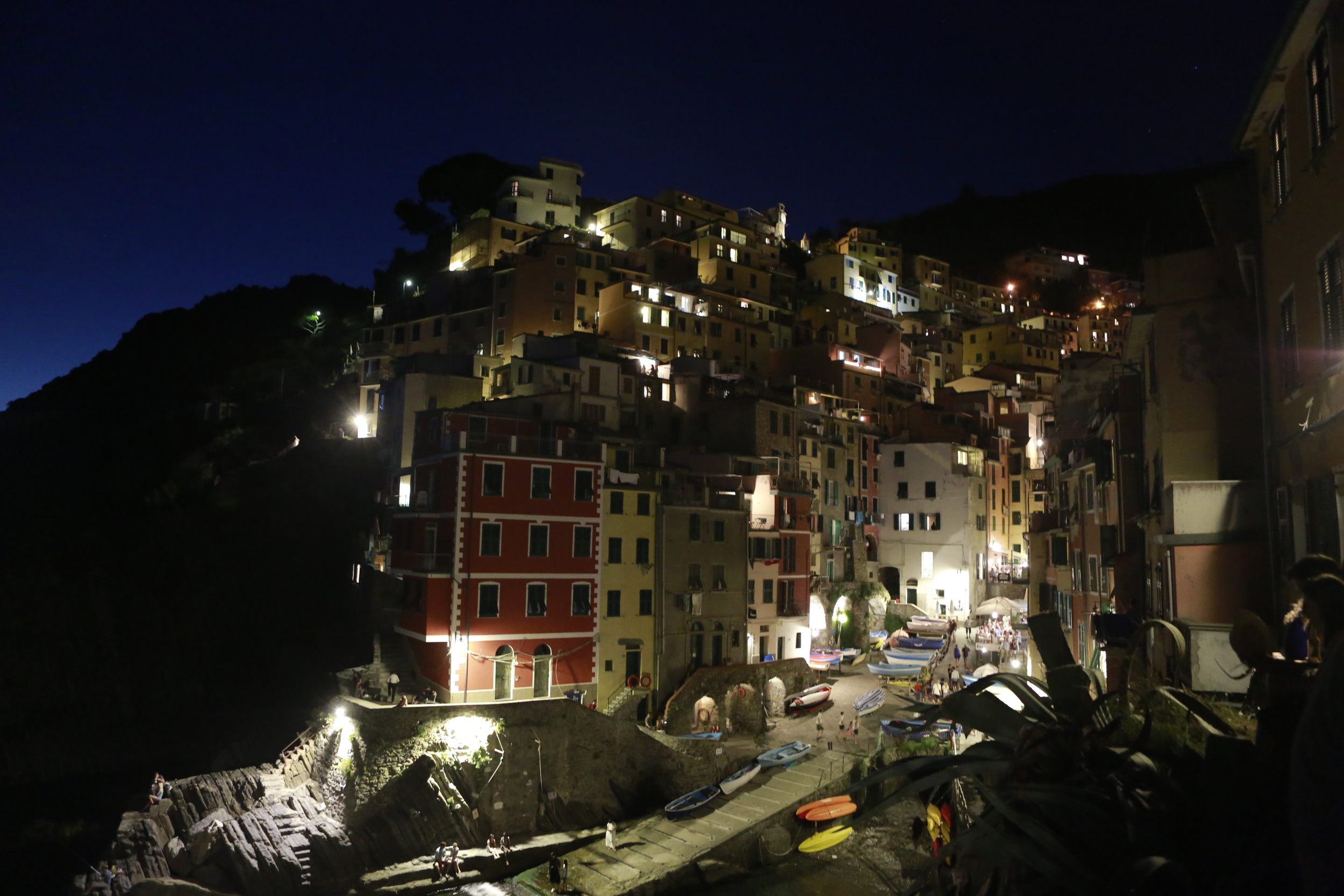 Riomaggiore at night. Click to view more pictures in Europe