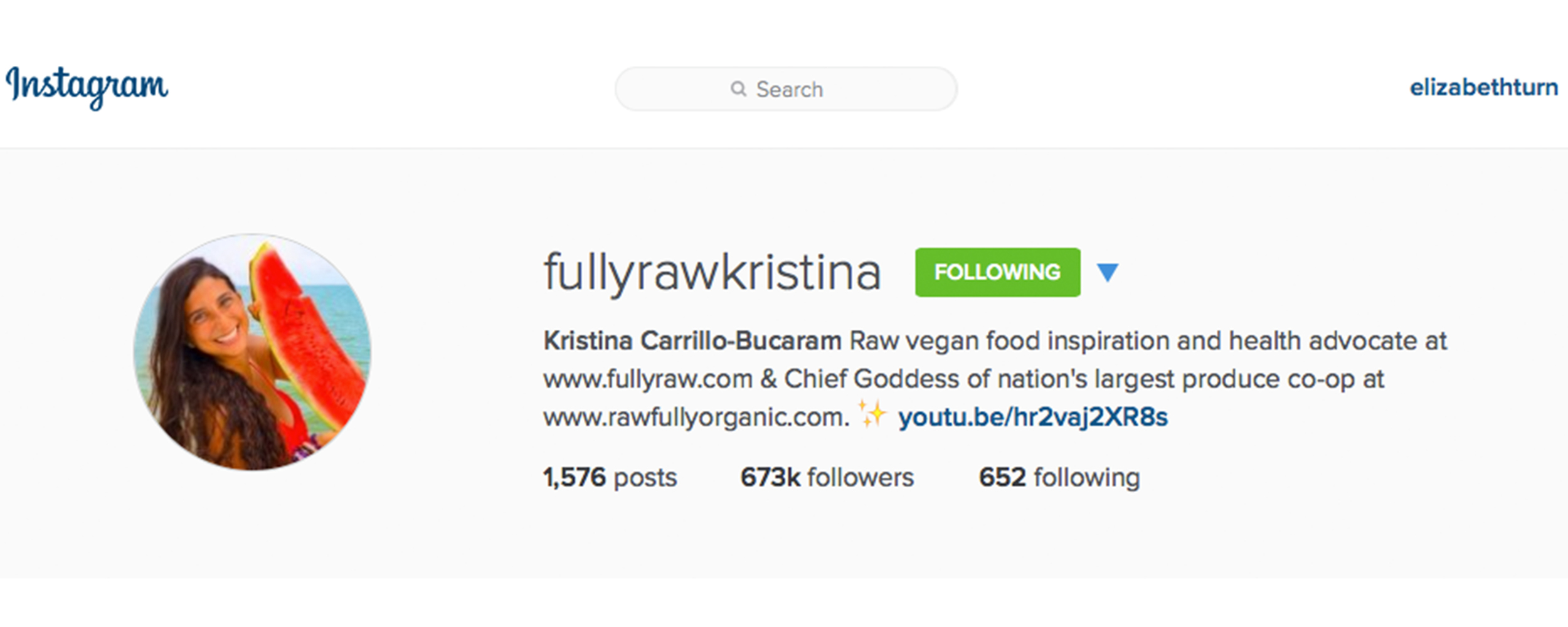 fullyrawkristina on instagram from plantbasedbride.com