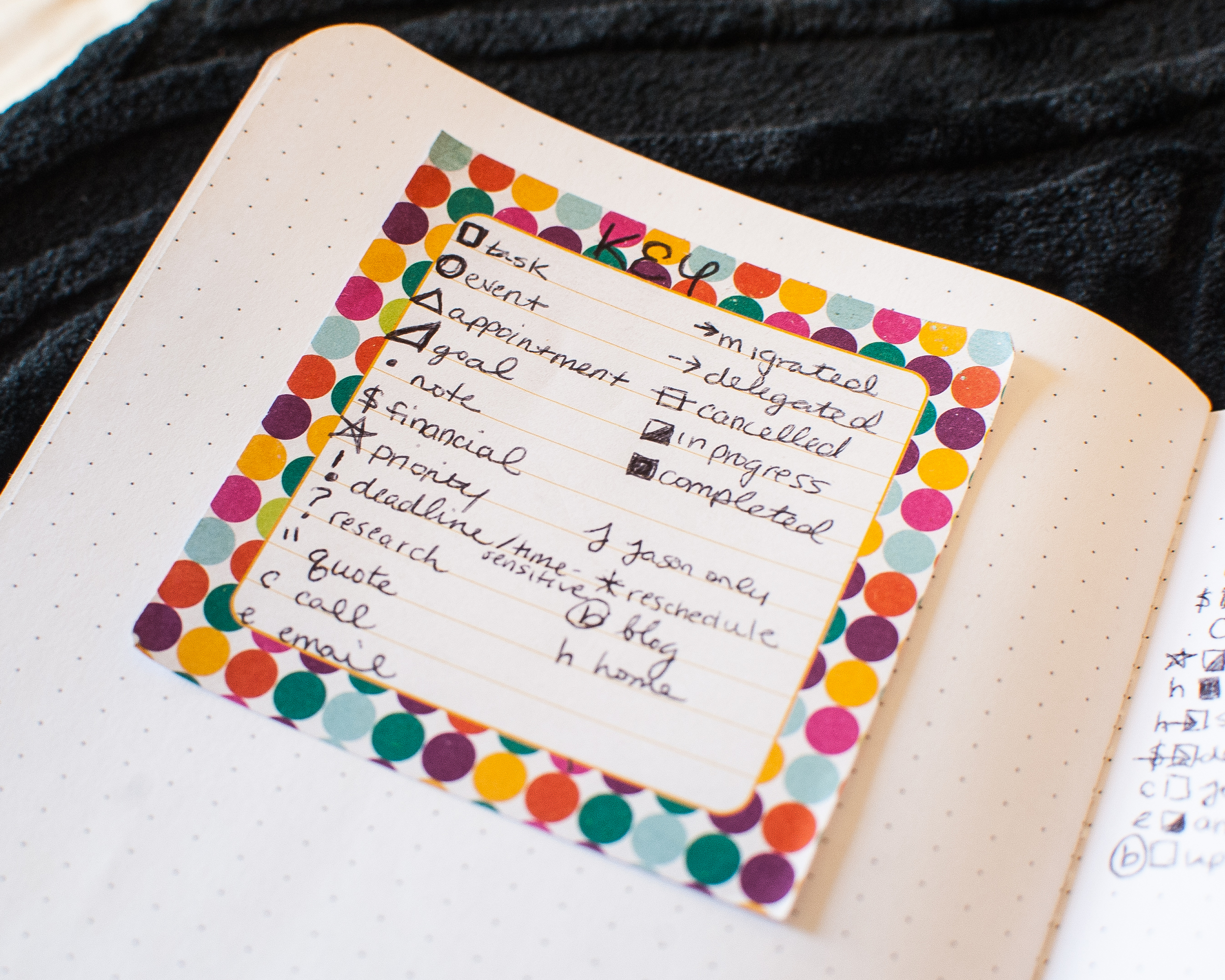 Check out My Bullet Journal Key on PlantBasedBride.com and get started bullet journalling today!