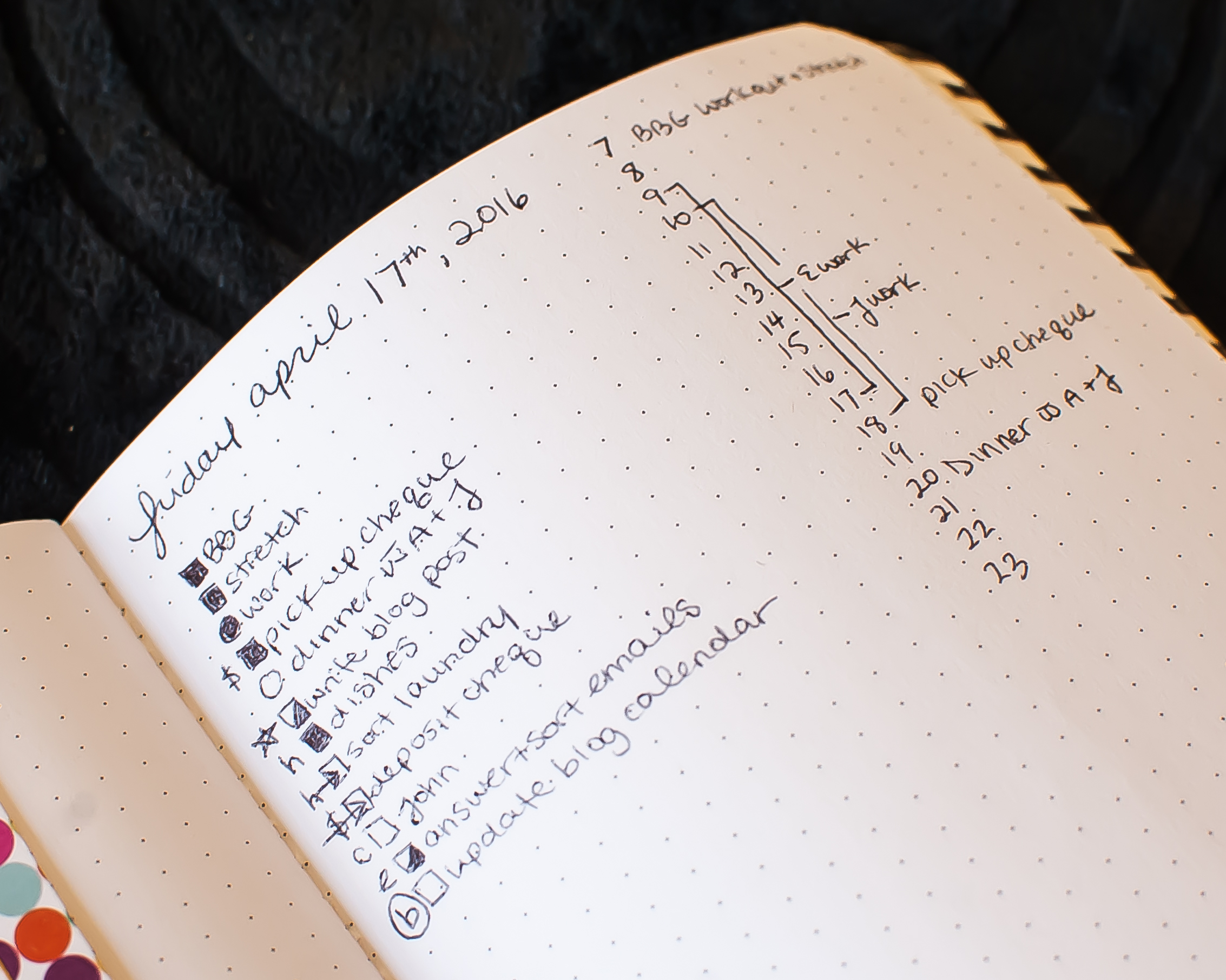 Get a sneak peek at my how I use my Bullet Journal on PlantBasedBride.com!