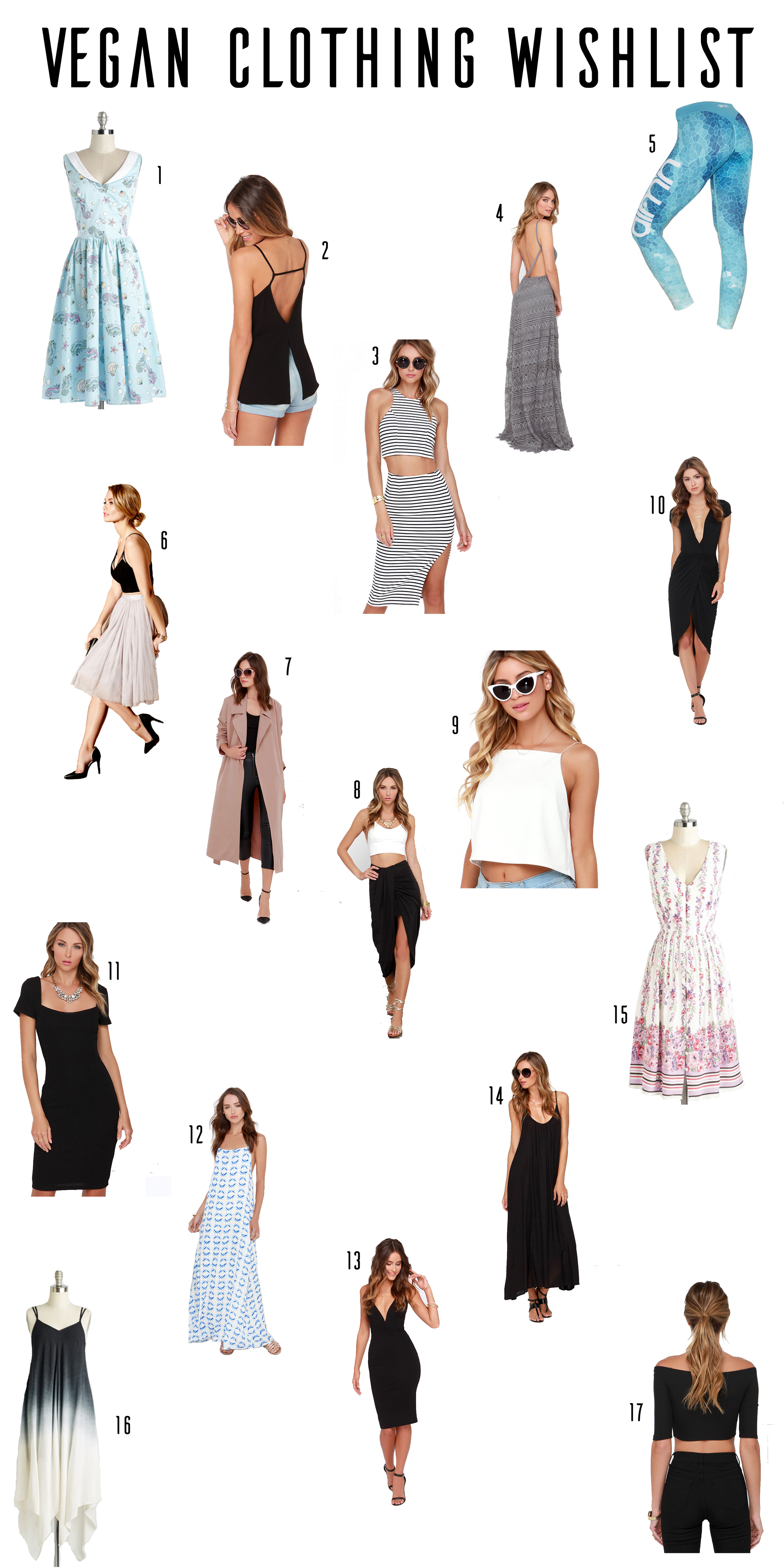 Check out this awesome vegan clothing wishlist from plantbasedbride.com!