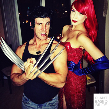 Wolverine and Jessica Rabbit! Halloween Costume Ideas @elizabethturn / plantbasedbride.com
