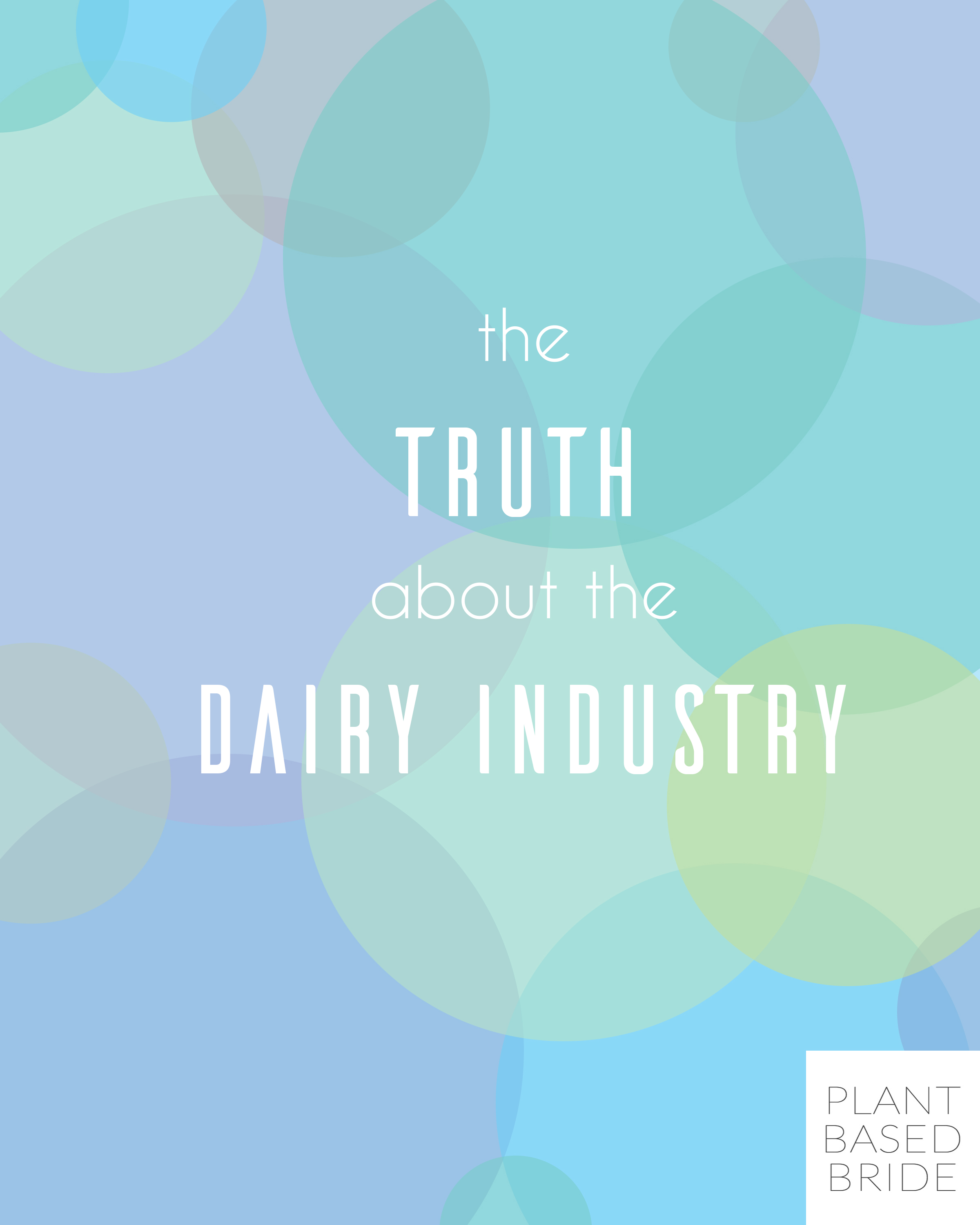 Everyone knows milk is good for you.  But what if it isn't?  Learn the truth about the dairy industry once and for all over on plantbasedbride.com