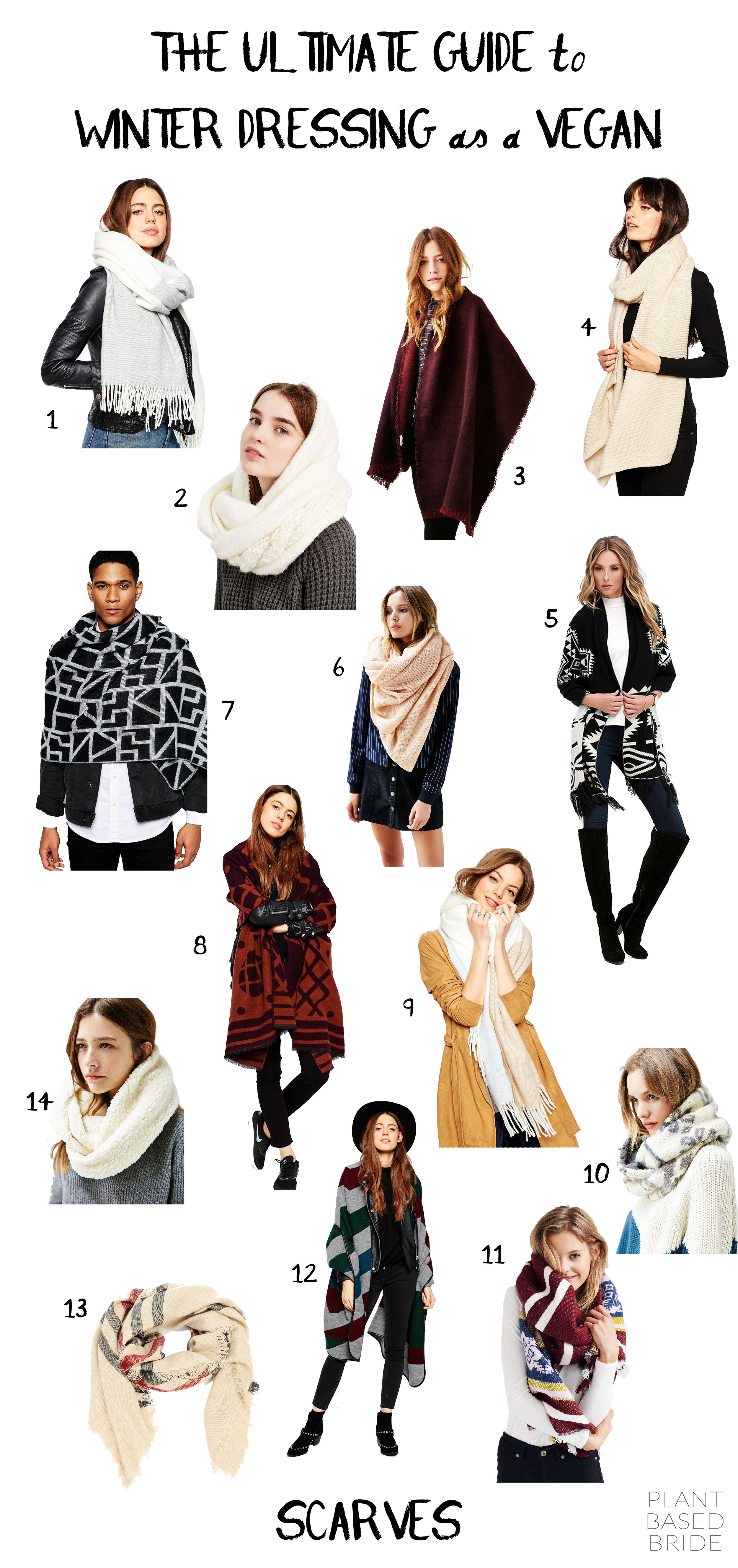 Vegan Scarves // The Ultimate Guide to Winter Dressing as a Vegan // Plant Based Bride