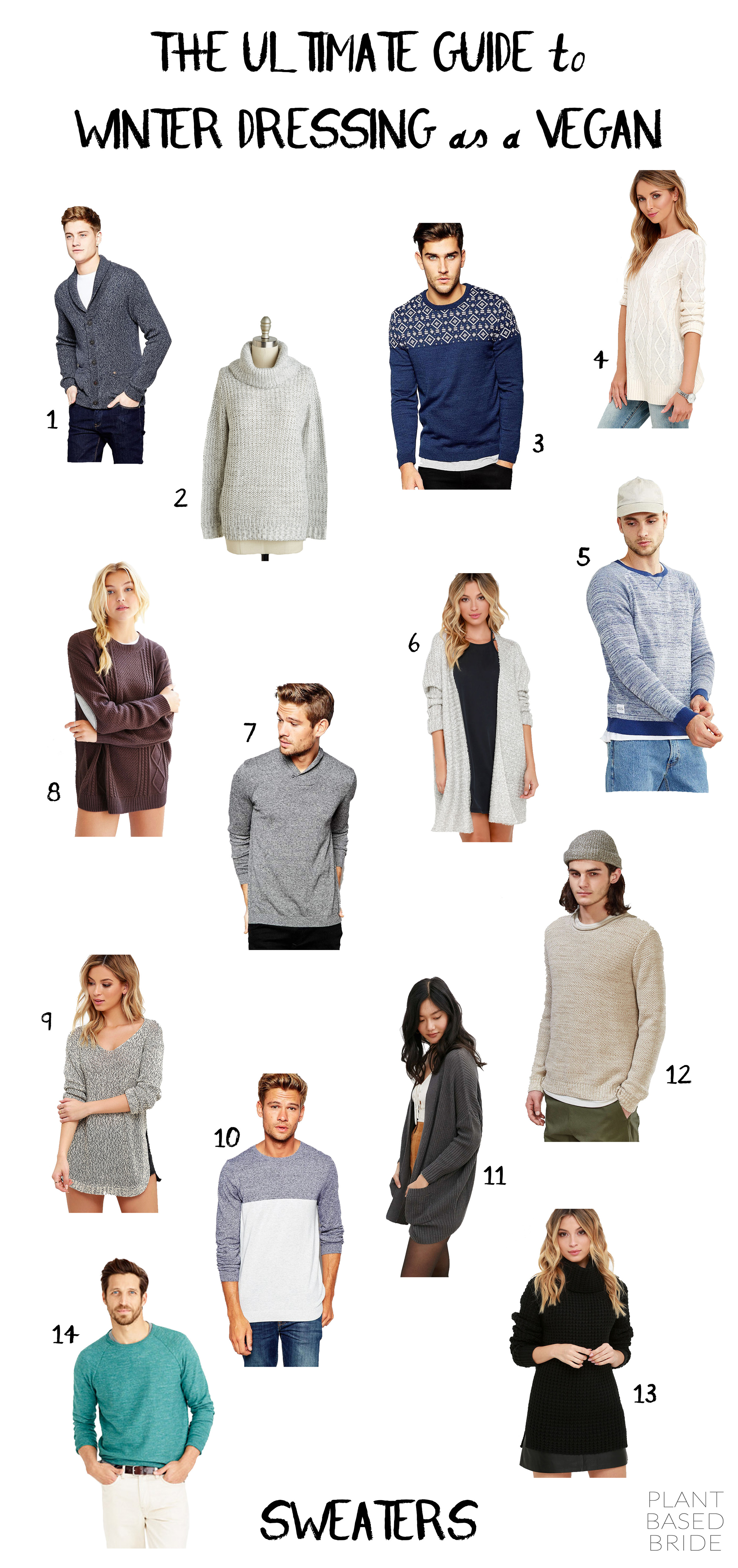 Vegan Sweaters // The Ultimate Guide to Winter Dressing as a Vegan // Plant Based Bride