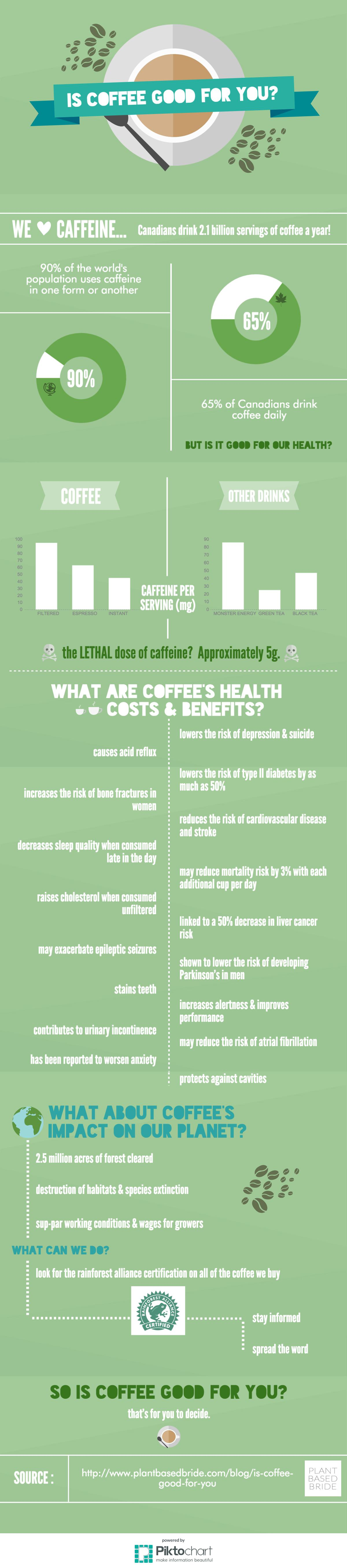 Is Coffee Good For You?  Learn about the health, environmental, human, and animal impacts of coffee. // Plant Based Bride