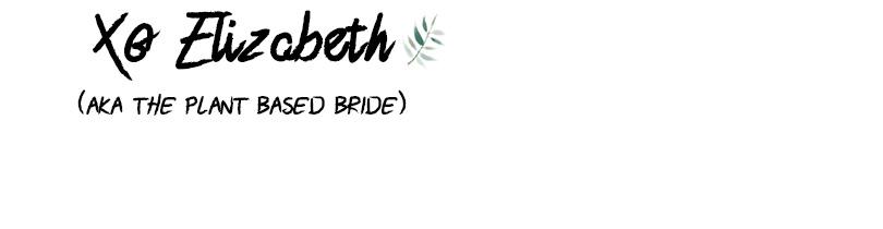 Plant Based Bride