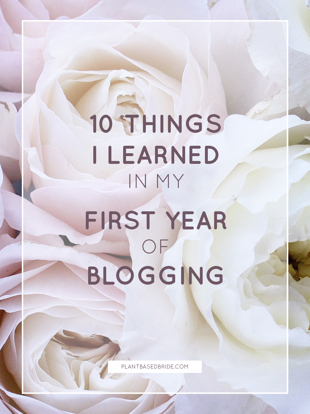 10 Things I Learned In My First Year Of Blogging! // Plant Based Bride