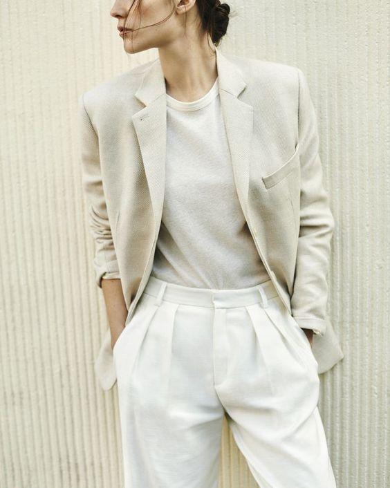 androgynous style // white on white