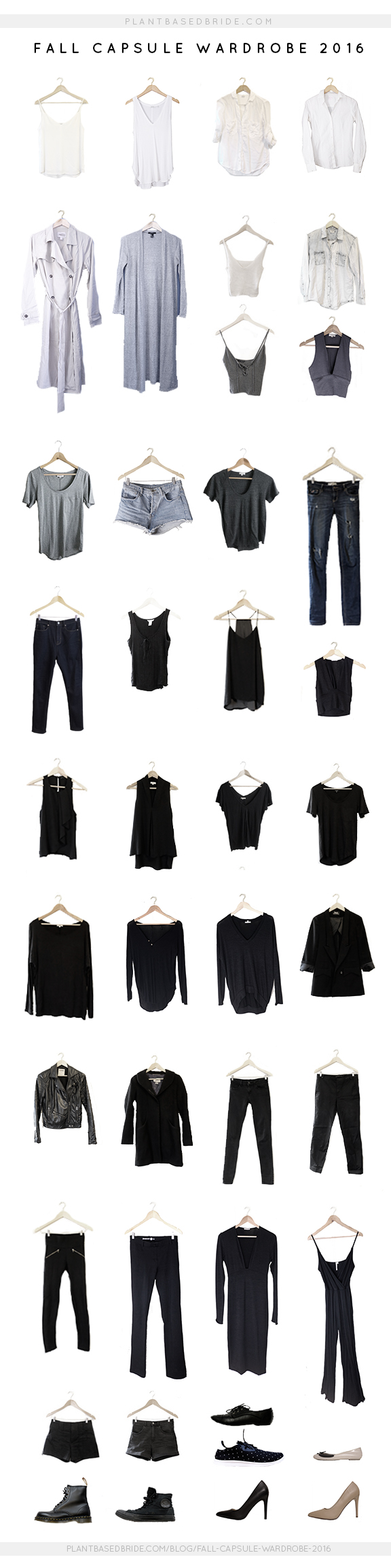 My 2016 Fall Capsule Wardrobe is ready!  This time around I talk you through my process and go into detail about each piece. // Plant Based Bride