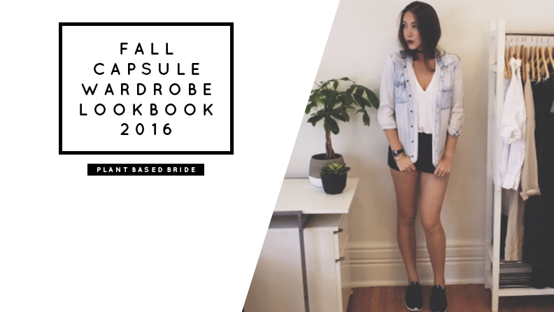 Fall Capsule Wardrobe Lookbook 2016 // Plant Based Bride