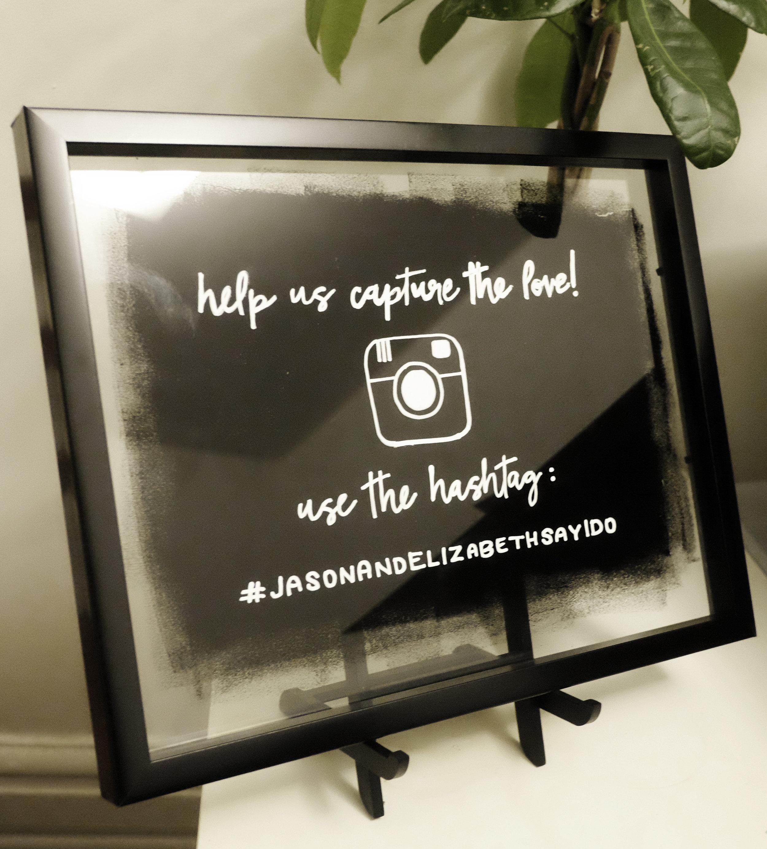 Wedding Hashtag DIY Sign // Plant Based Bride