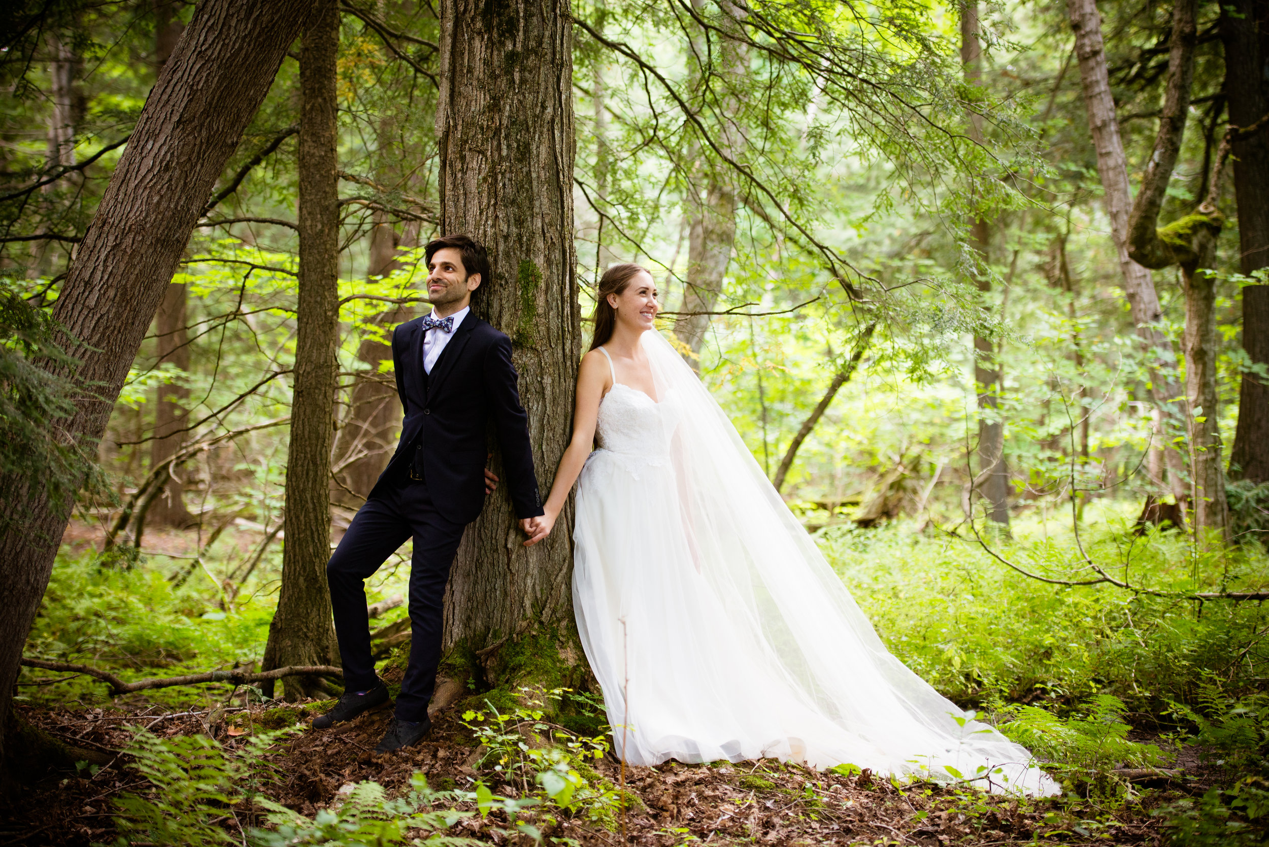 Just hanging out in the forest as husband and wife... // Plant Based Bride // Shot by Karmel Kreative