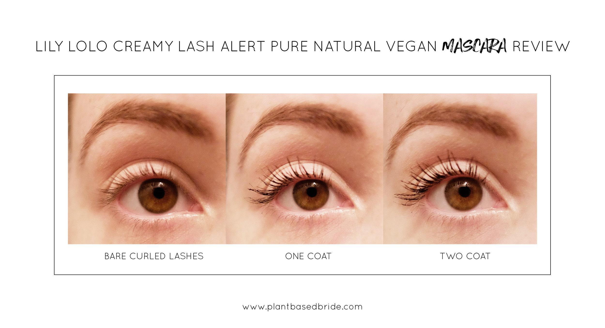Lily Lolo Creamy Lash Alert Pure Natural Vegan Mascara Review // Plant Based Bride