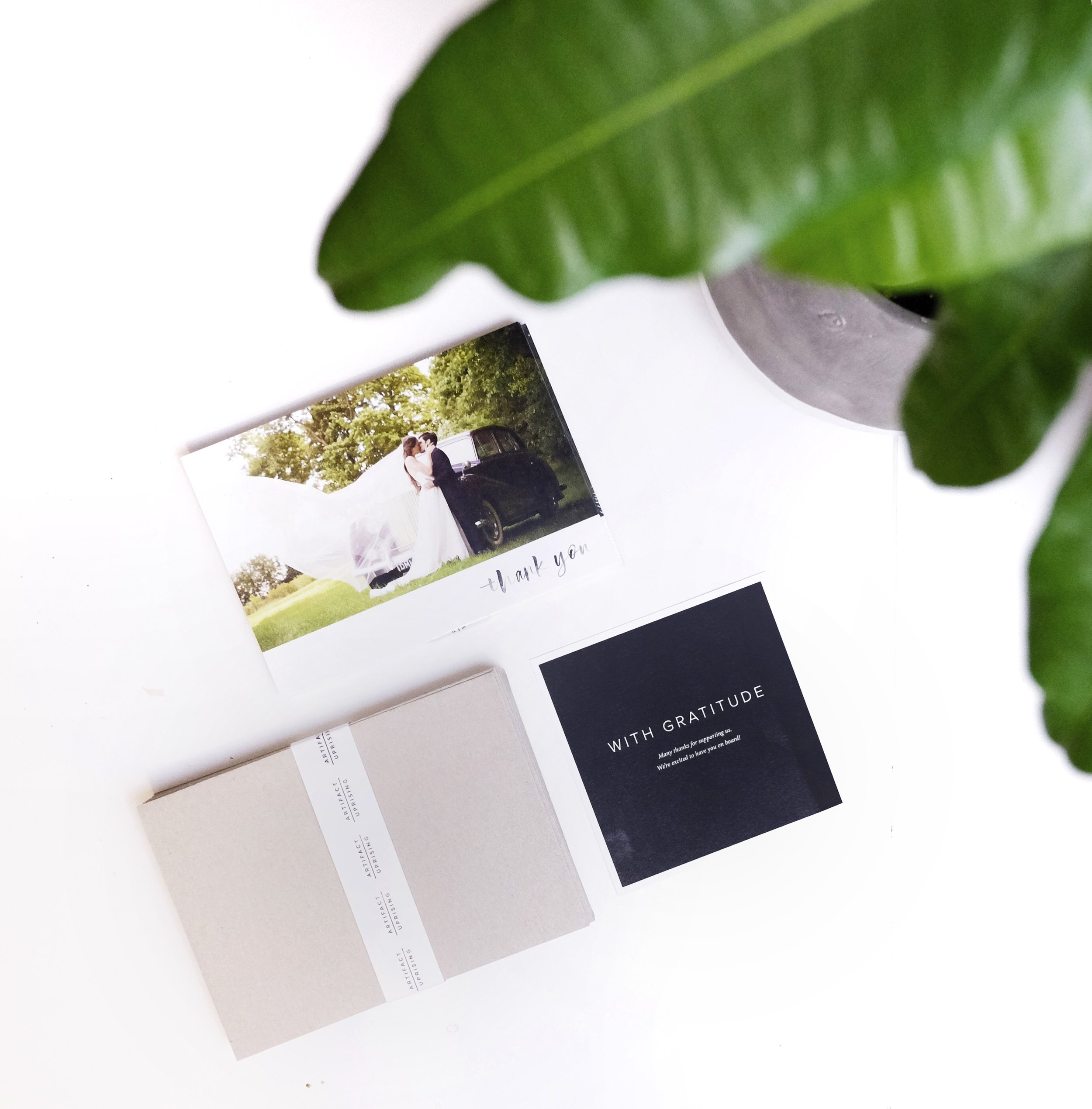 Eco-Friendly Wedding Thank You Cards // Plant Based Bride