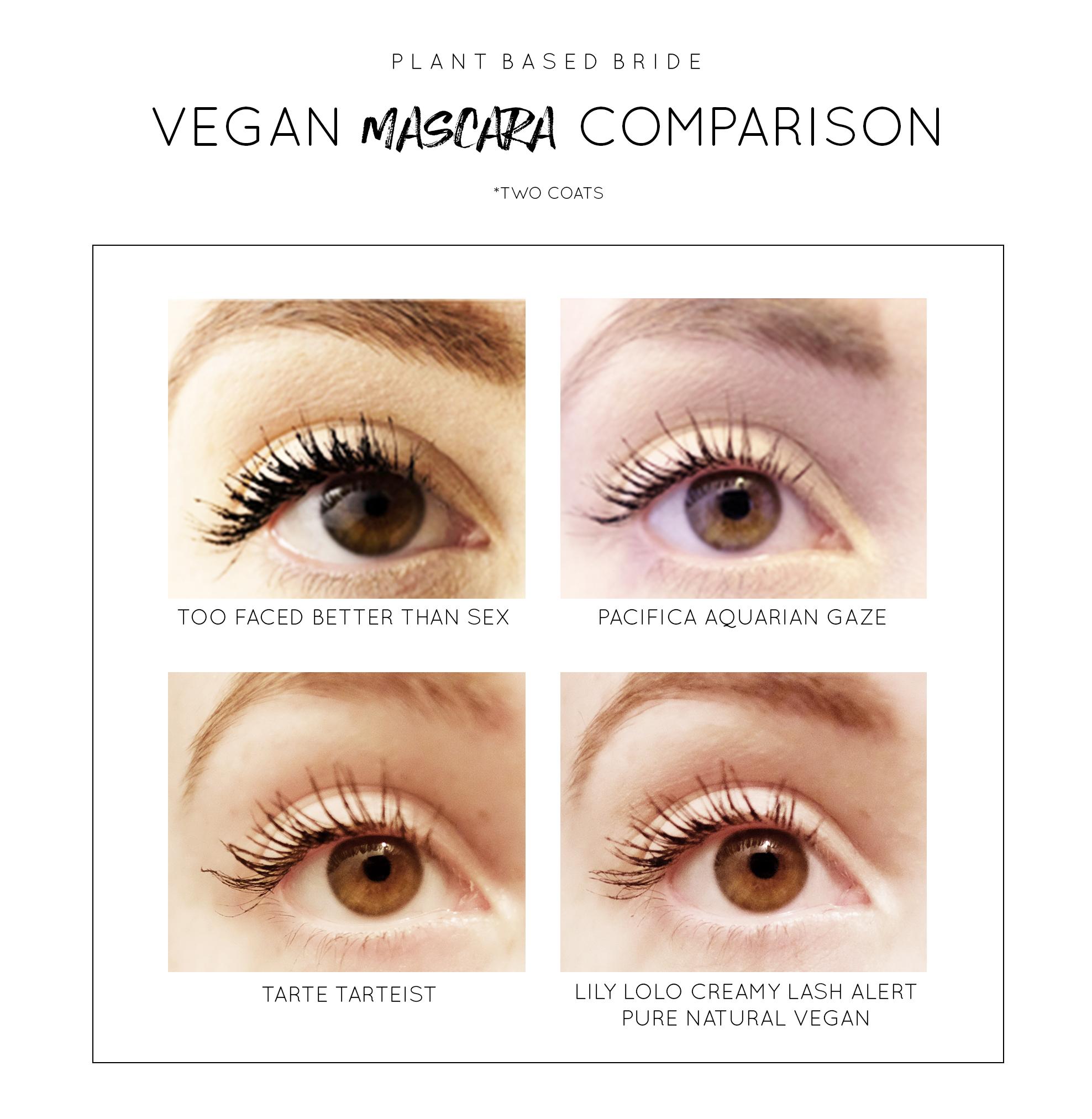 Vegan Mascara Comparison // Plant Based Bride