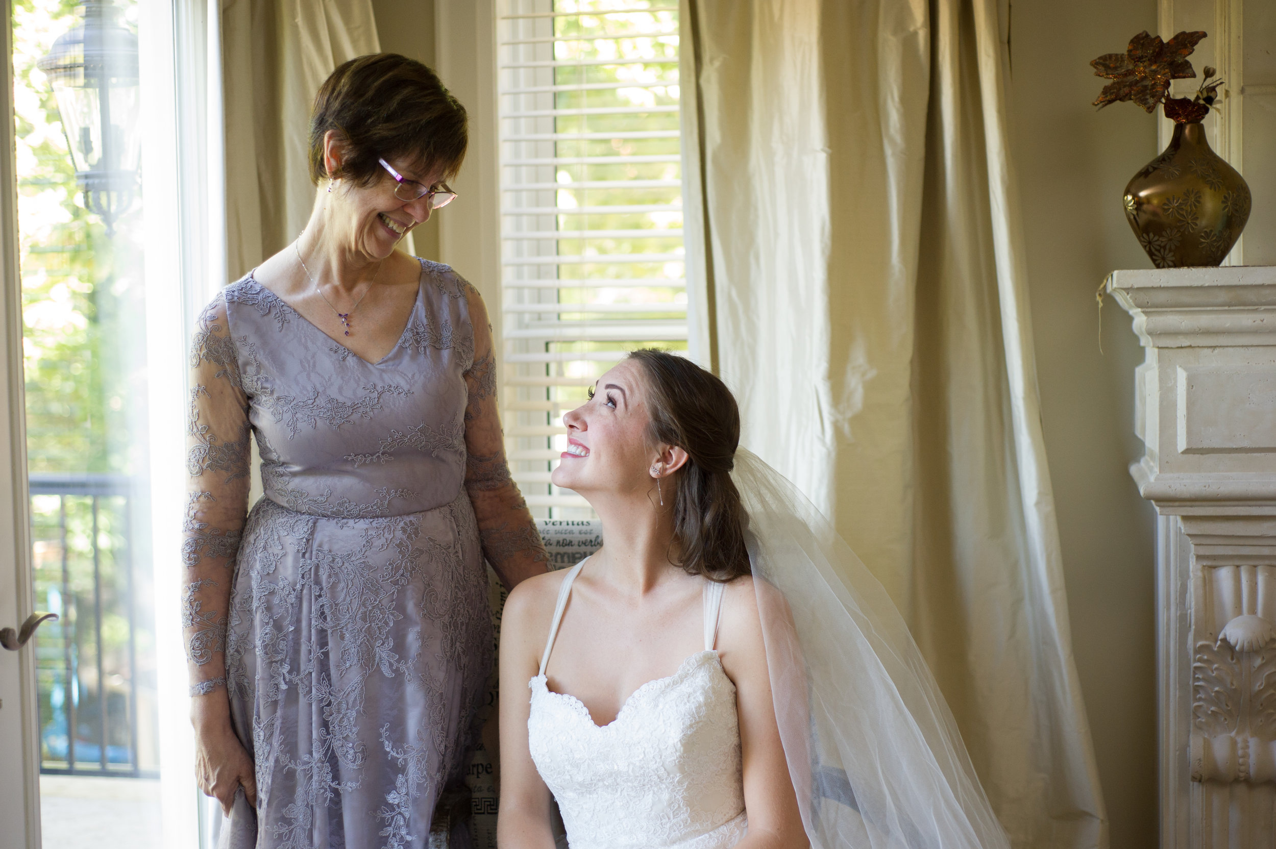 Mother of the Bride and the Bride.  Wedding photography by Karmel Kreative // Plant Based Bride