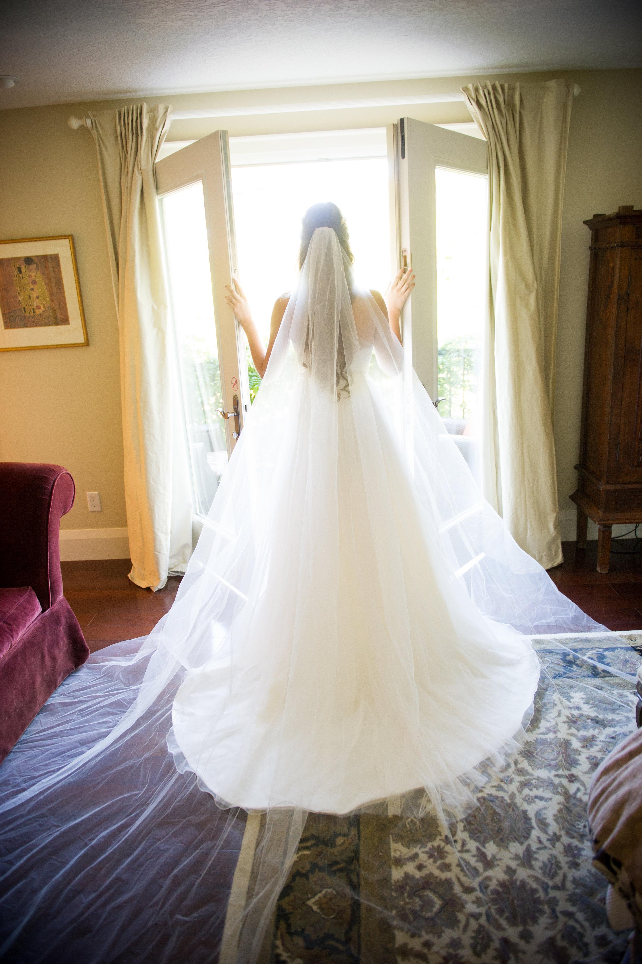 The dress! Wedding photography by Karmel Kreative // Plant Based Bride