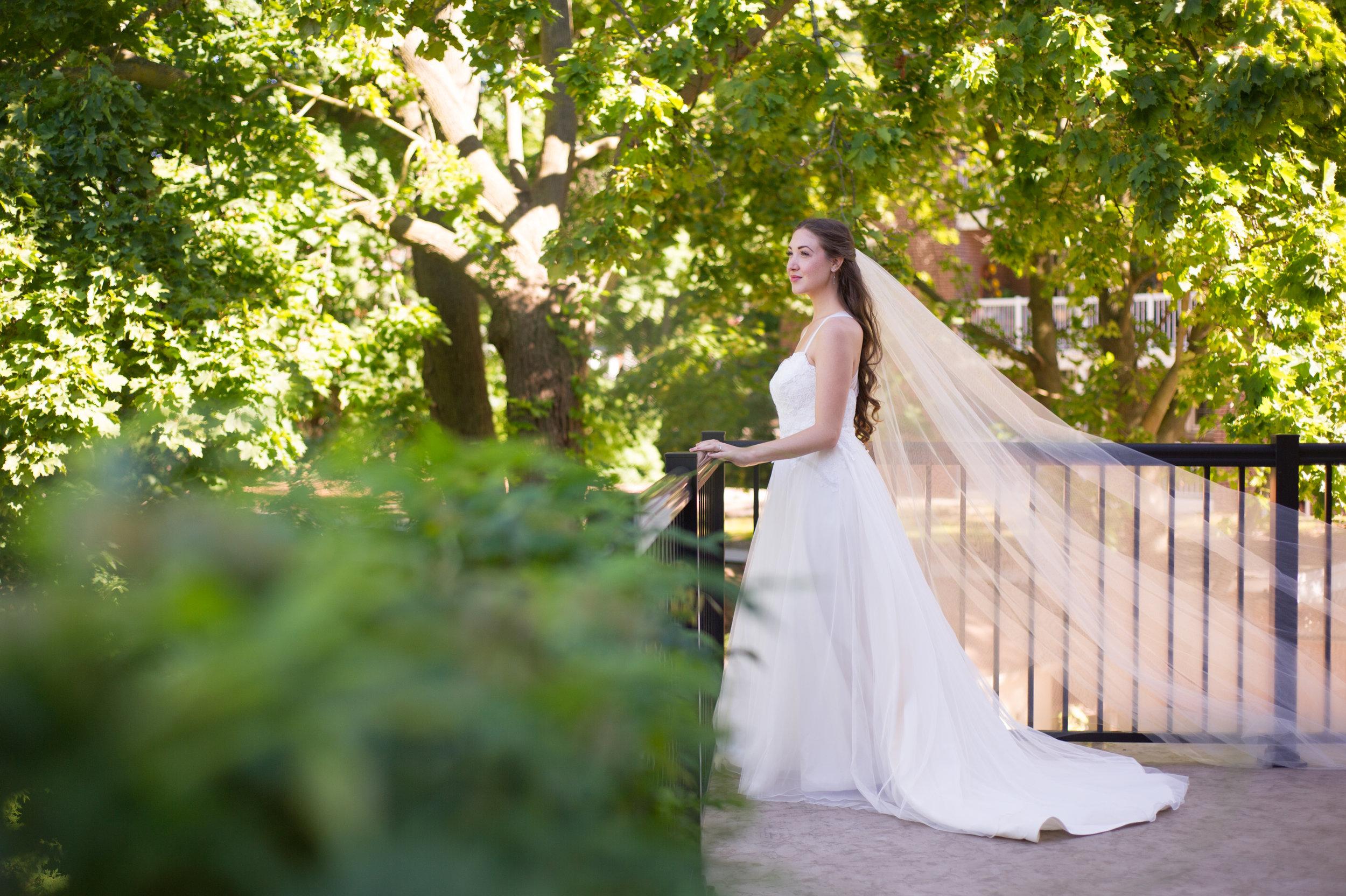 The bride. // Wedding photos by Karmel Kreative // Plant Based Bride