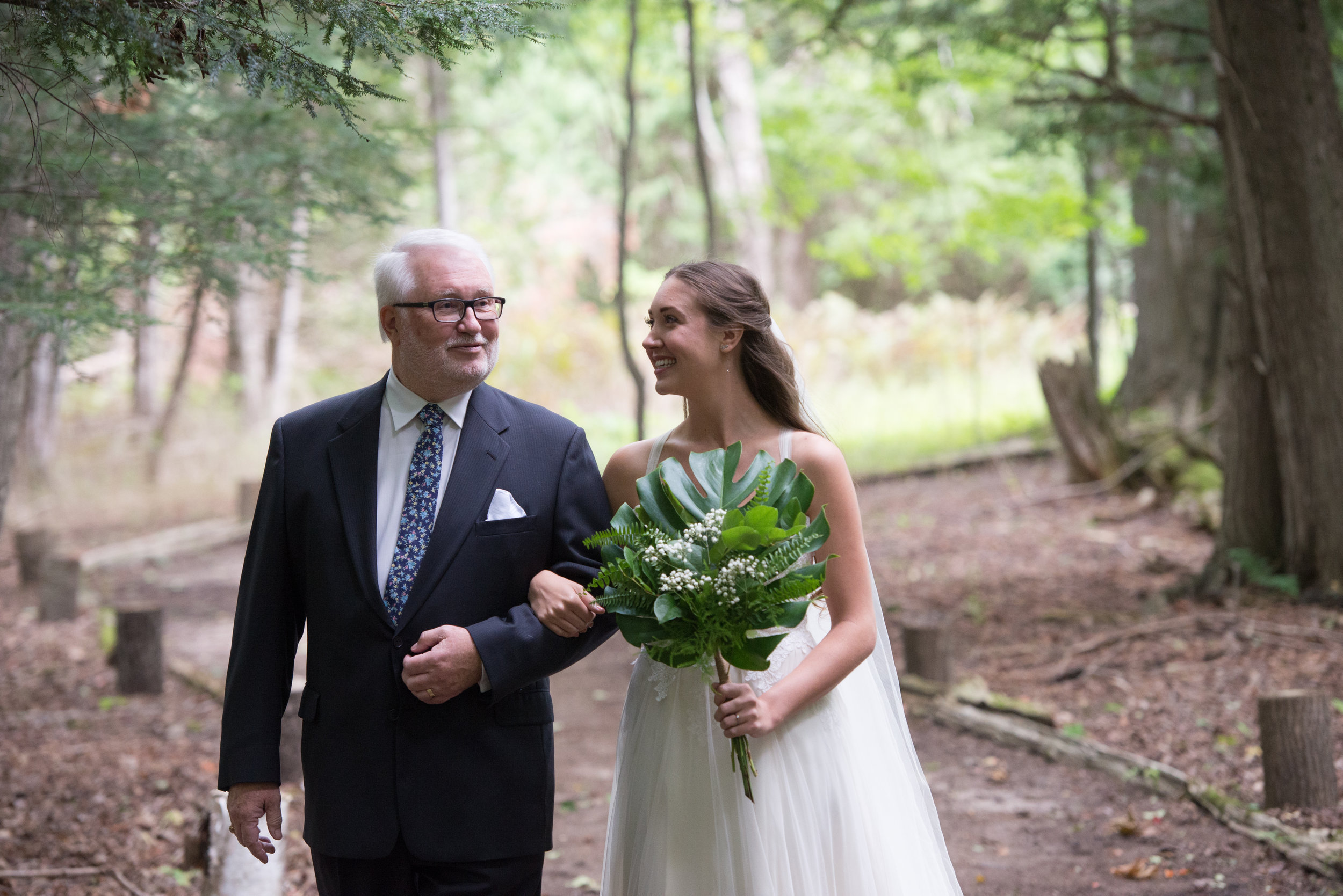 The father of the bride and the bride. // Wedding photos by Karmel Kreative // Plant Based Bride