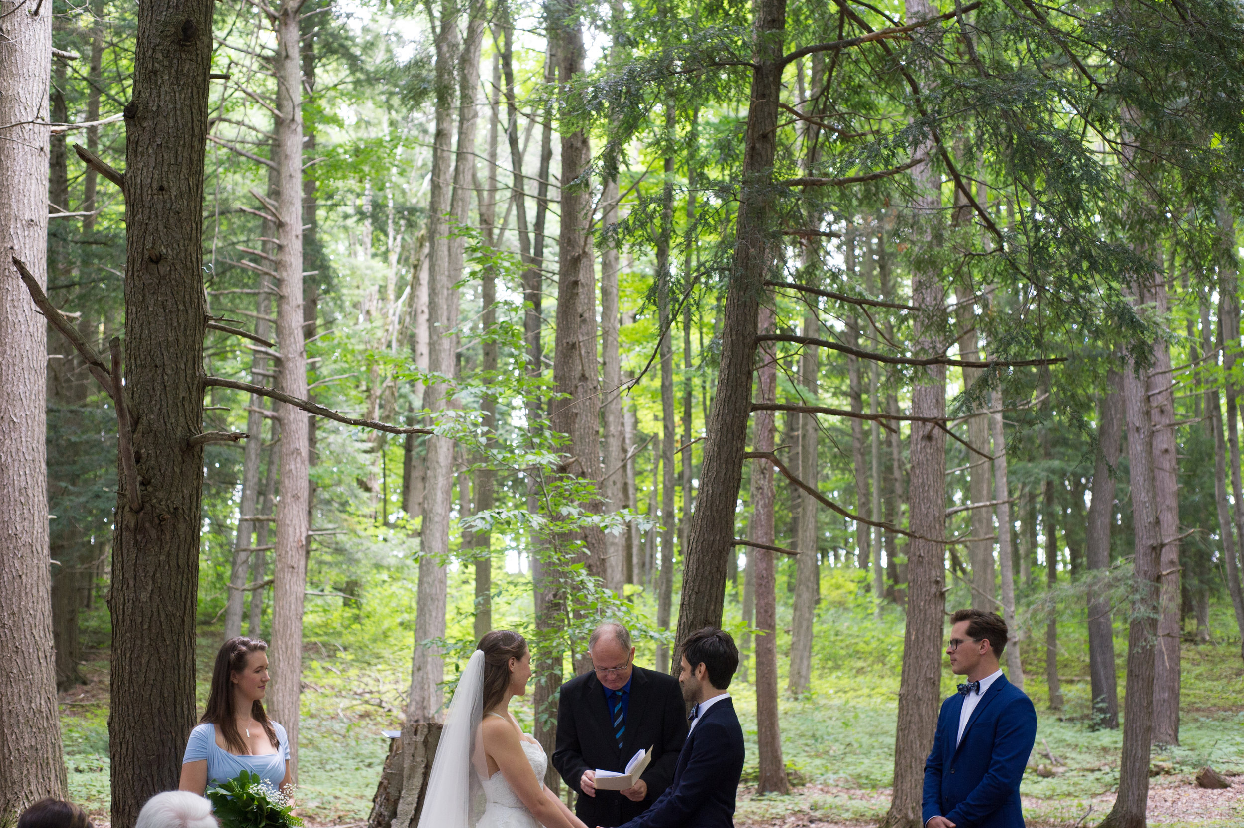 The groom reads his vows. // Wedding photos by Karmel Kreative // Plant Based Bride
