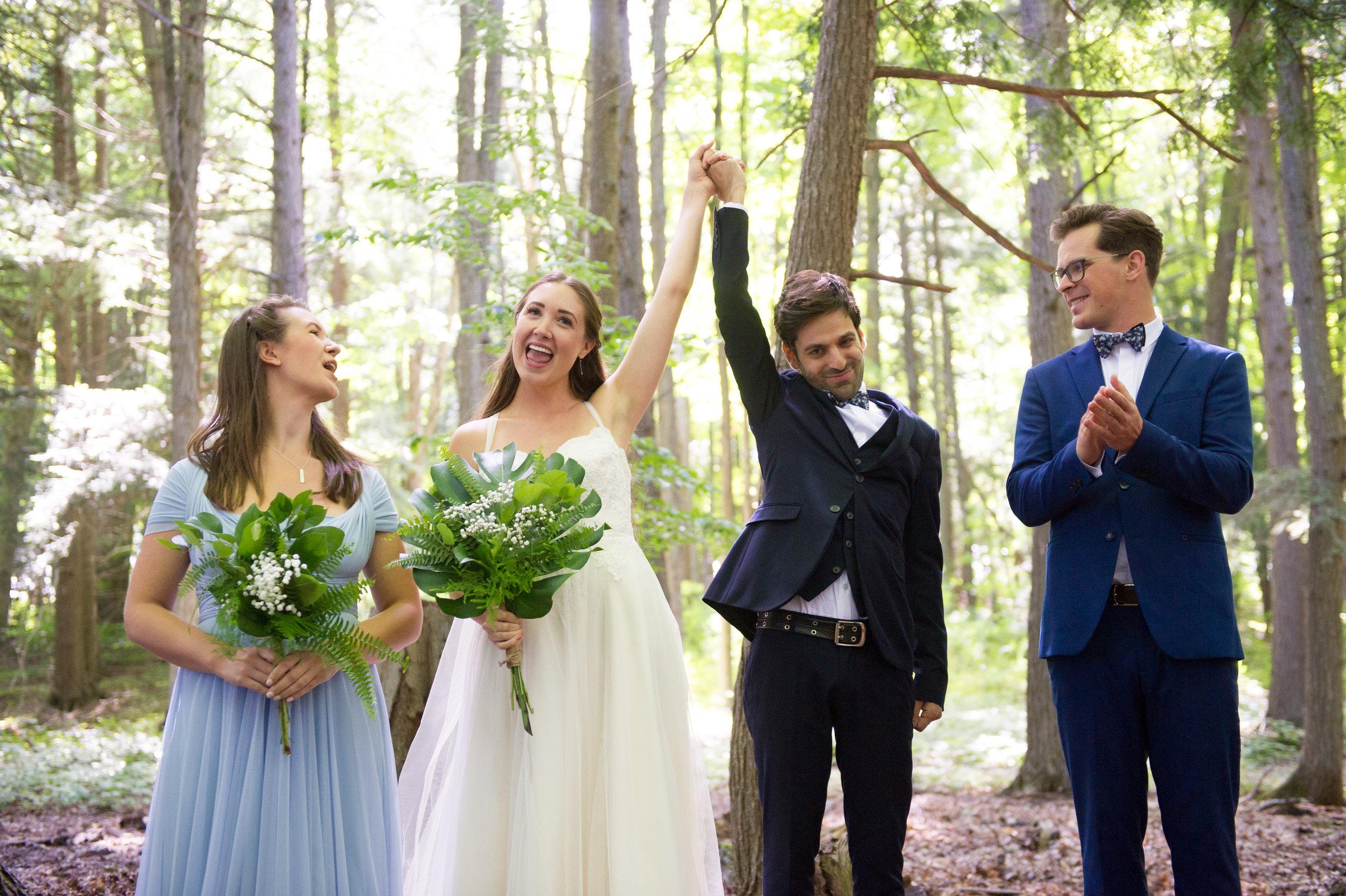 We're married! // Wedding photos by Karmel Kreative // Plant Based Bride