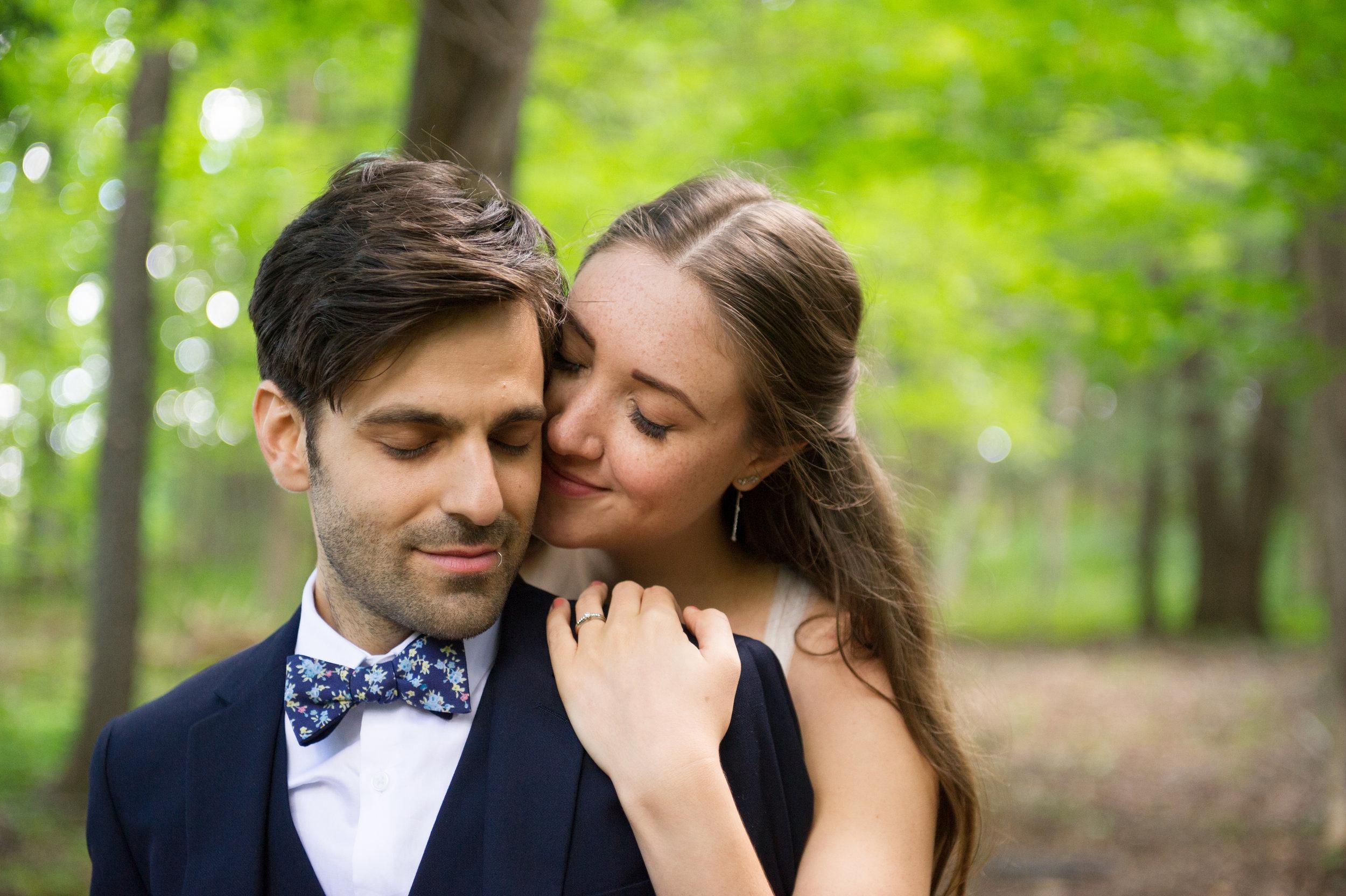 The bride and groom. // Wedding photos by Karmel Kreative // Plant Based Bride