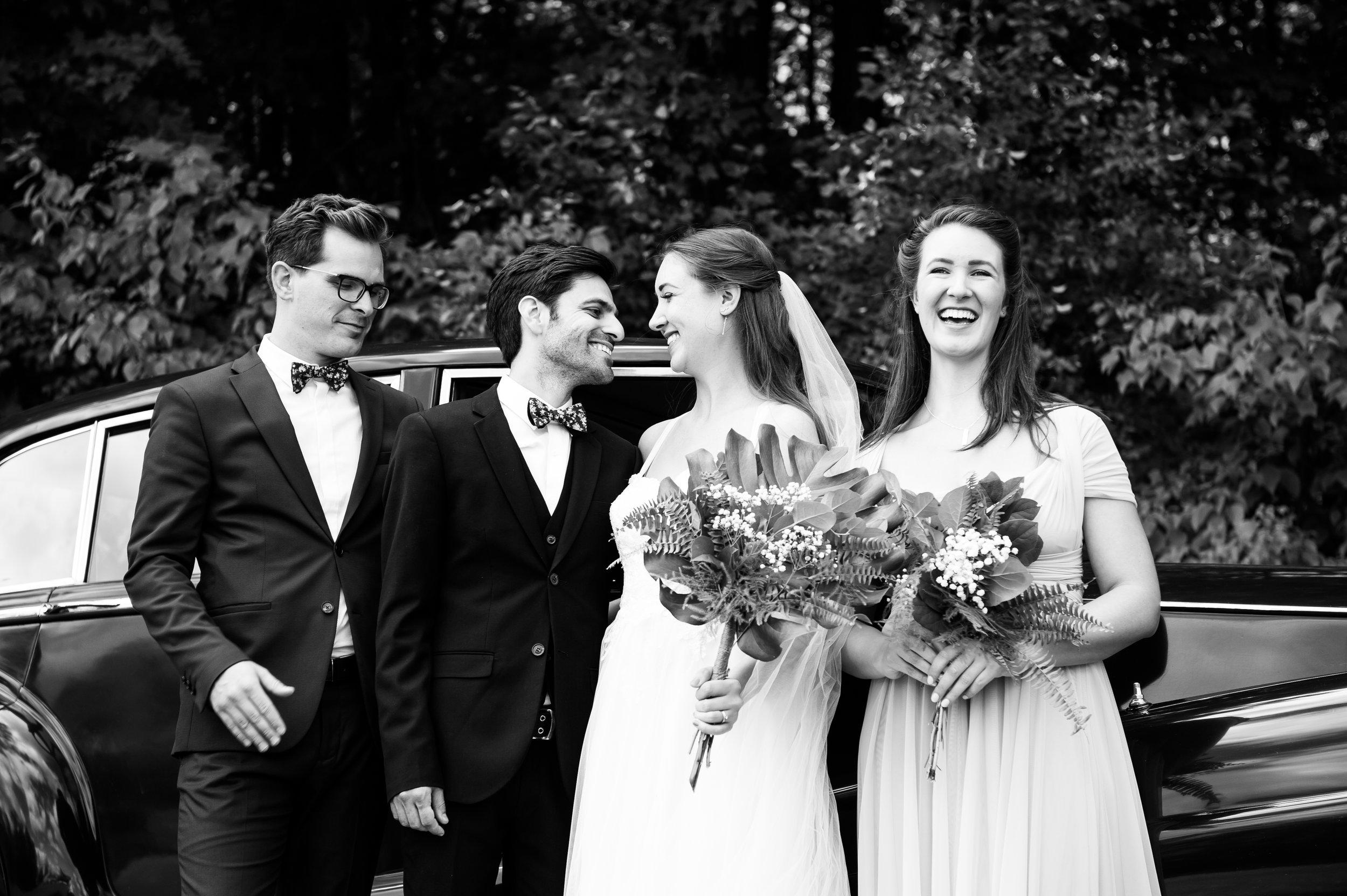 The wedding party.  // Wedding photos by Karmel Kreative // Plant Based Bride